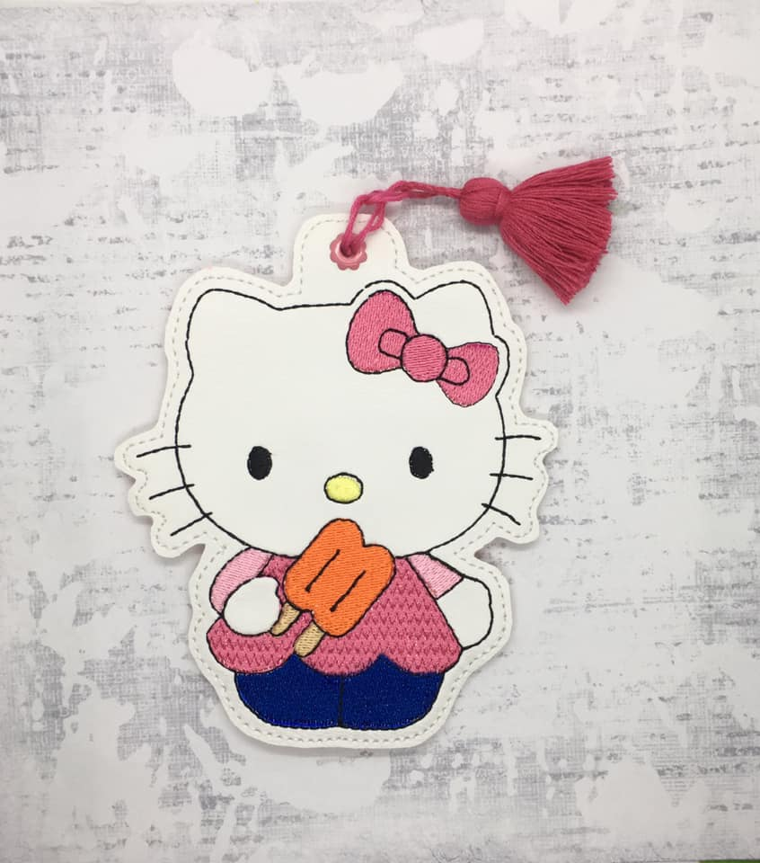 Hello Kitty Popcycle Bookmark Embroidery Design