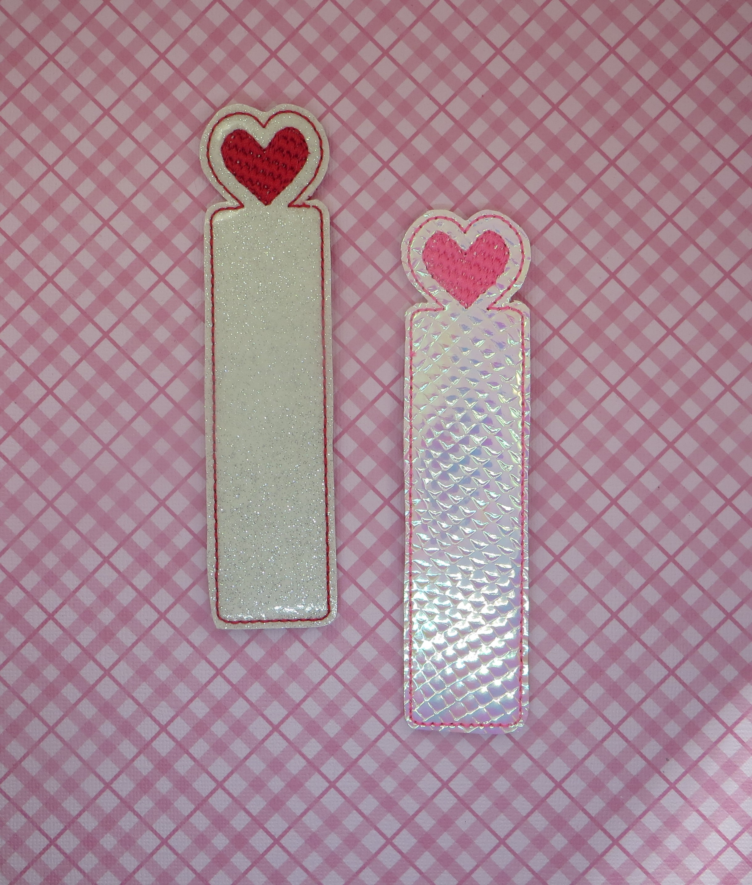 Heart Bookmark Embroidery Design