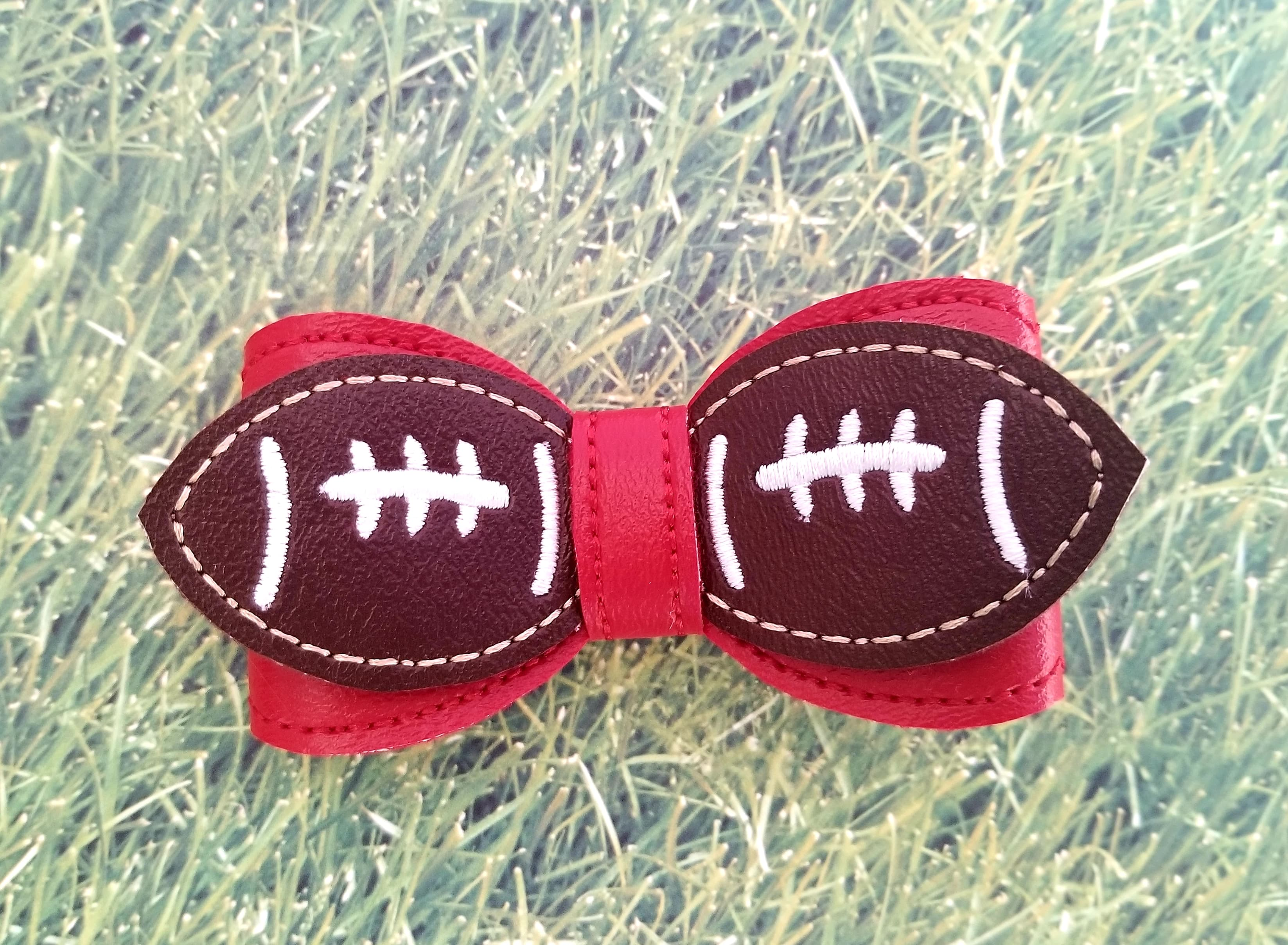 Football Simple Bow Embroidery Design