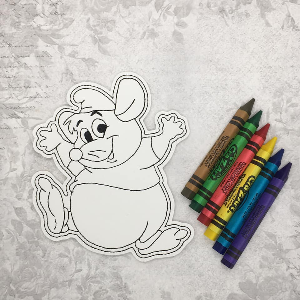 Gus Gus Coloring Doll Embroidery Design