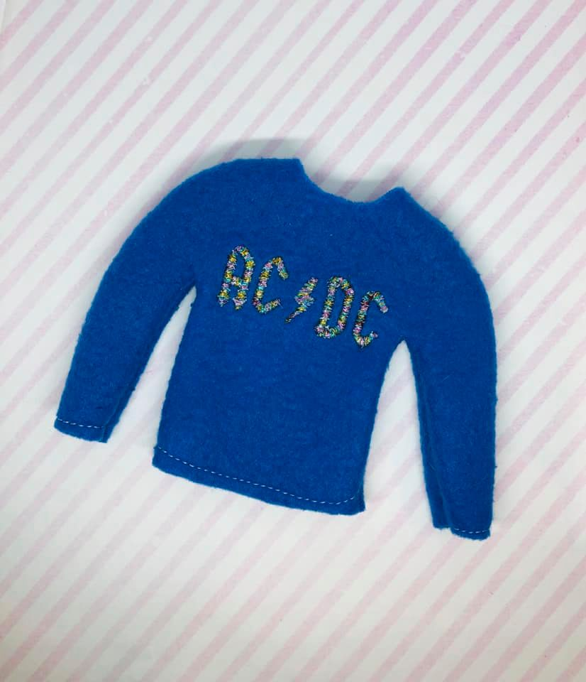 ACDC Elf Sweater Embroidery Design