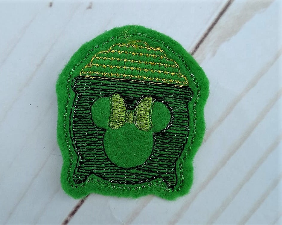 Mrs Mouse Pot of Gold Feltie Embroidery Design