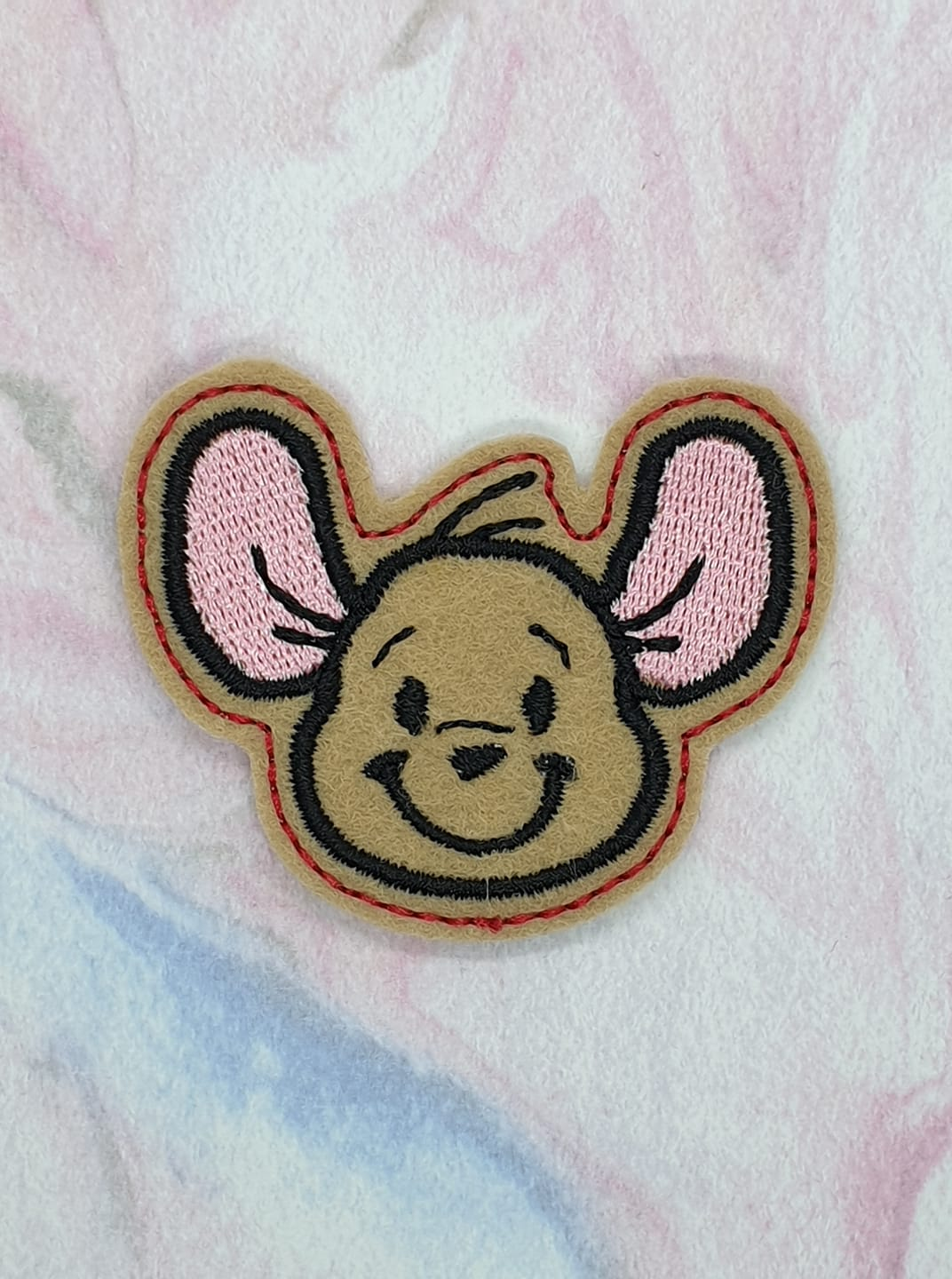 Smiling Roo Feltie Embroidery Design