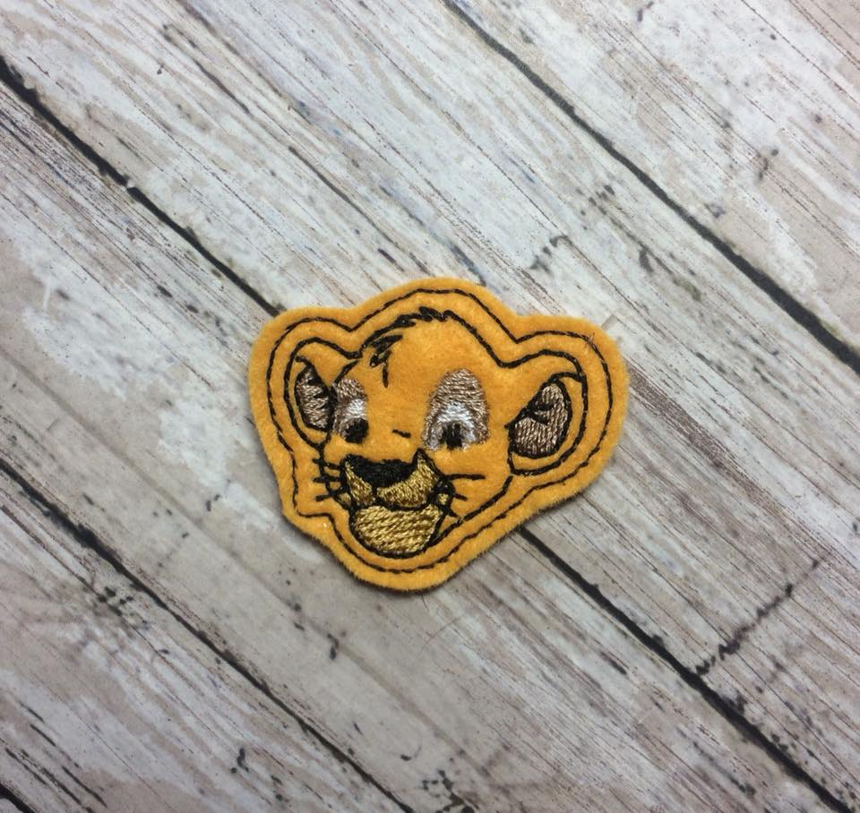 Young Simba Feltie Embroidery Design