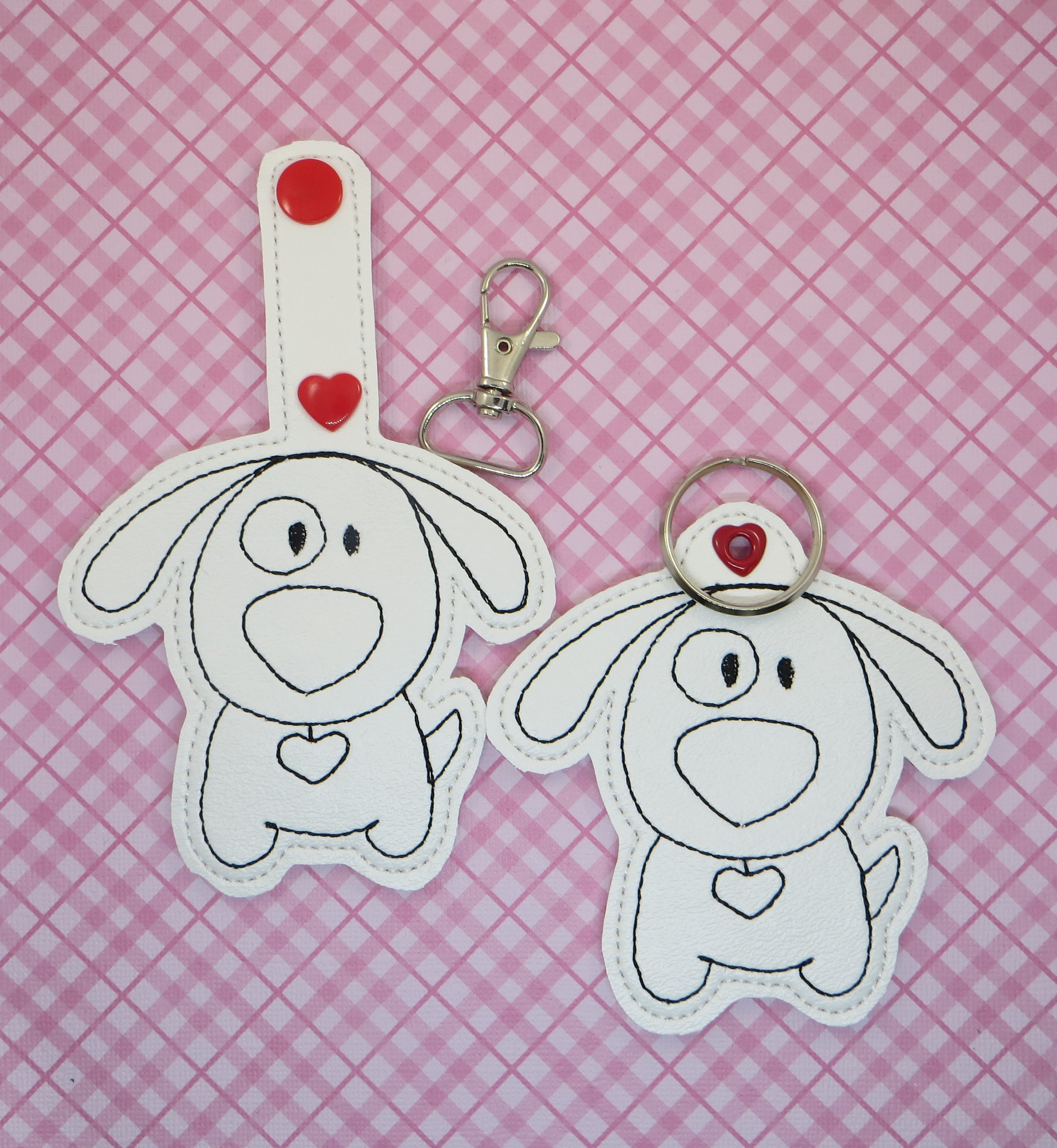 COLOR PUPPY LOVE Snaptab / Keyfob Embroidery Design