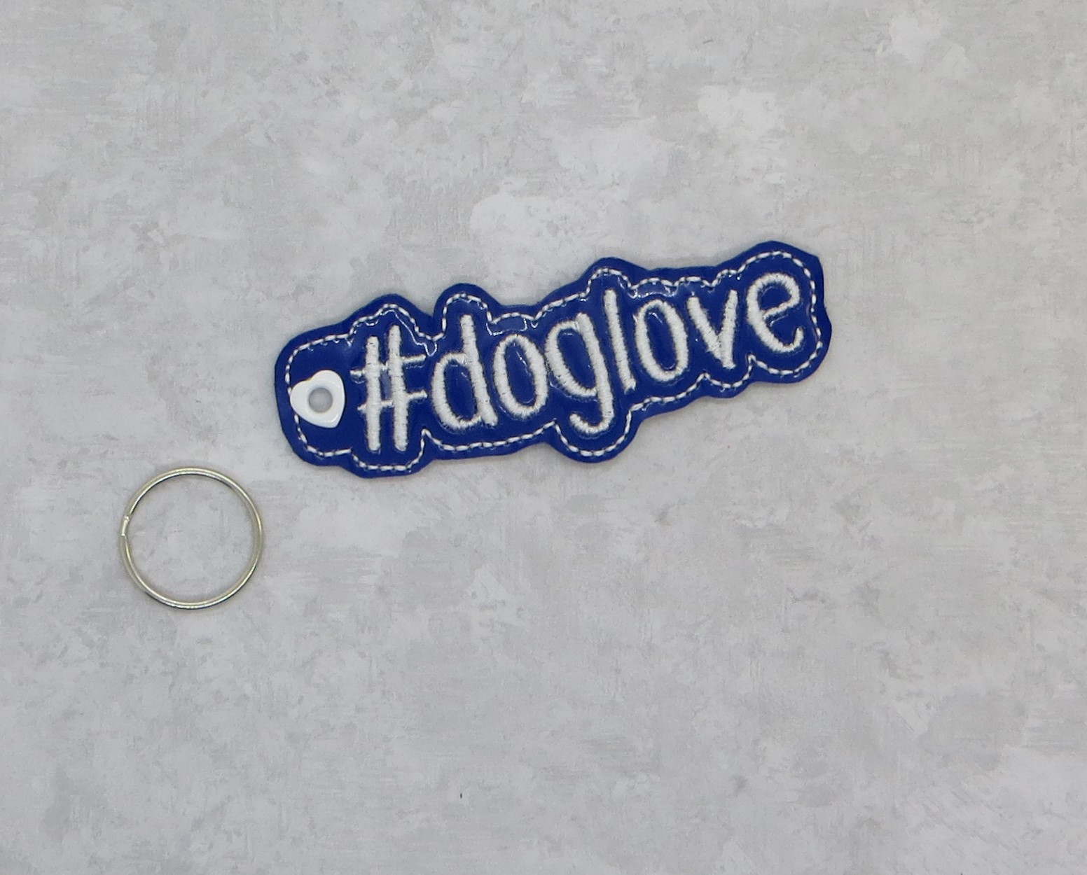 #doglove KeyFob Embroidery Design
