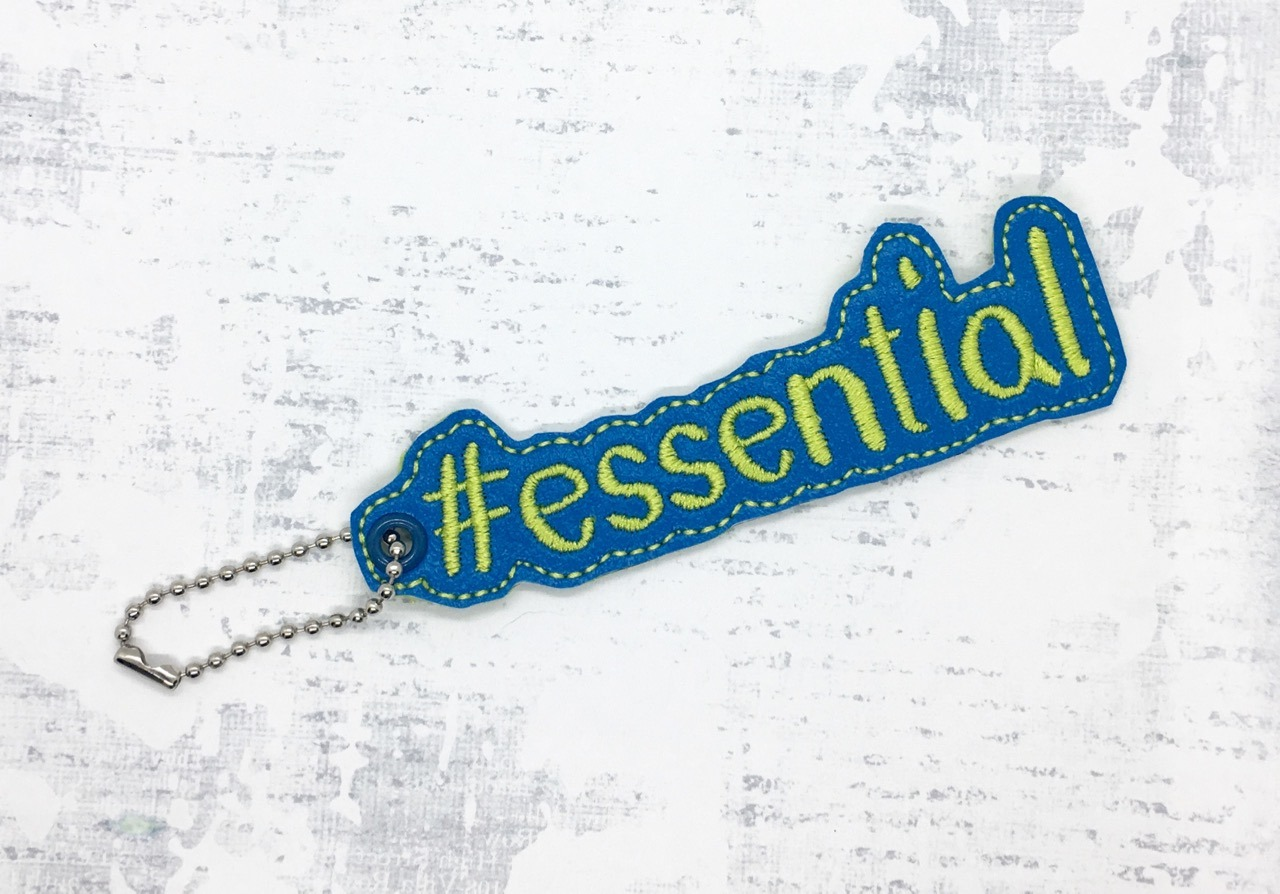 #ESSENTIAL Key Fob Embroidery Design