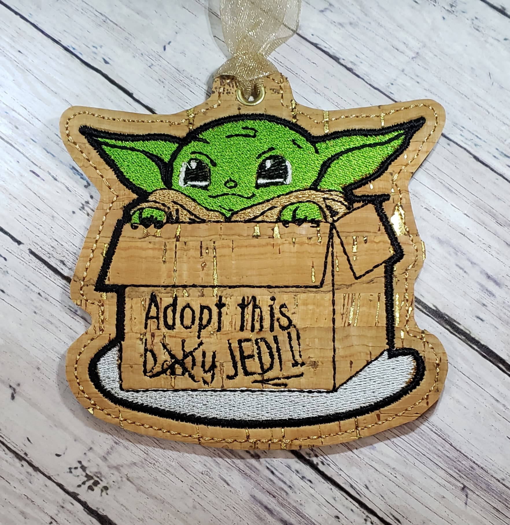 Green Baby Ornament Embroidery Design
