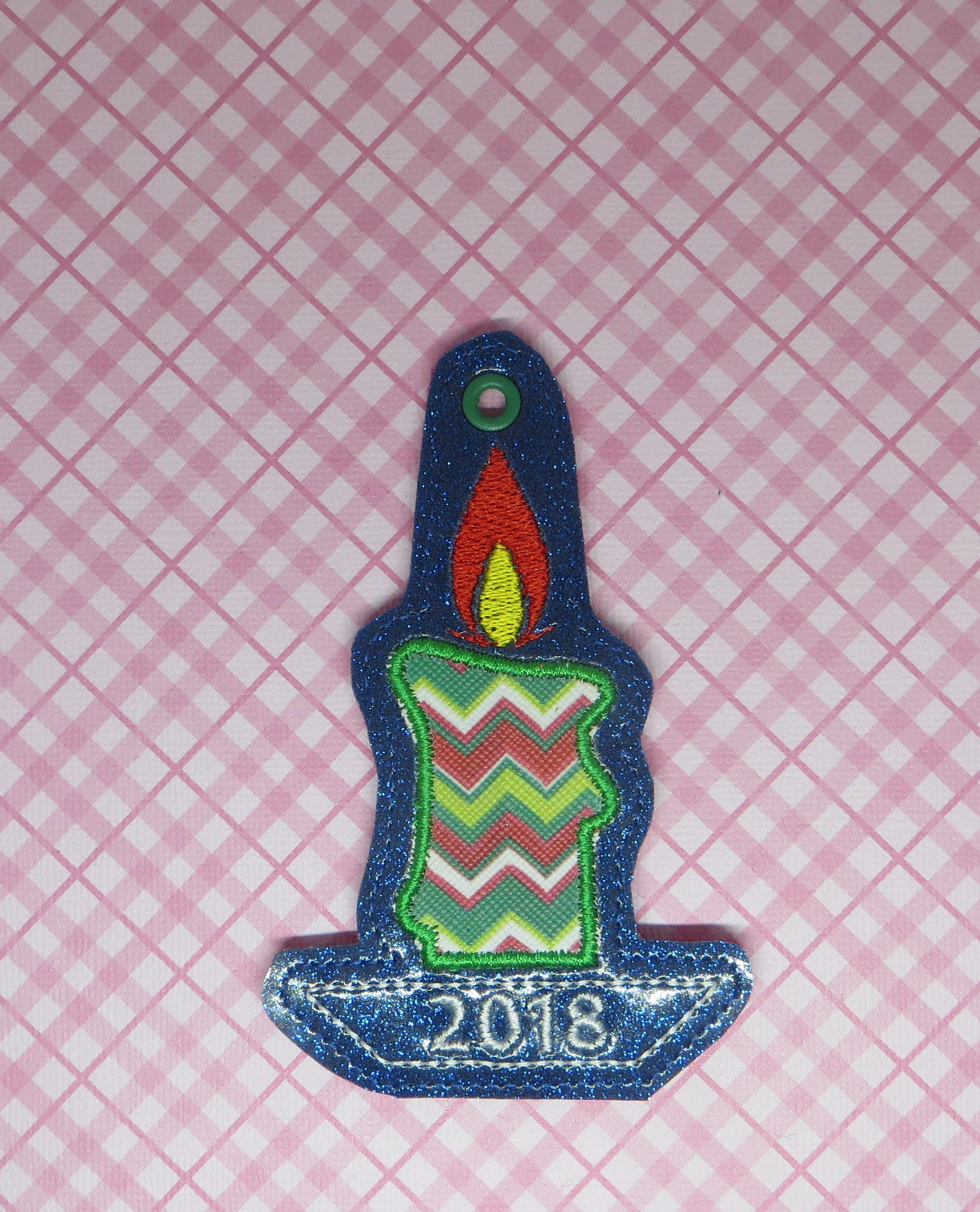 Candle Applique Ornament Embroidery Design