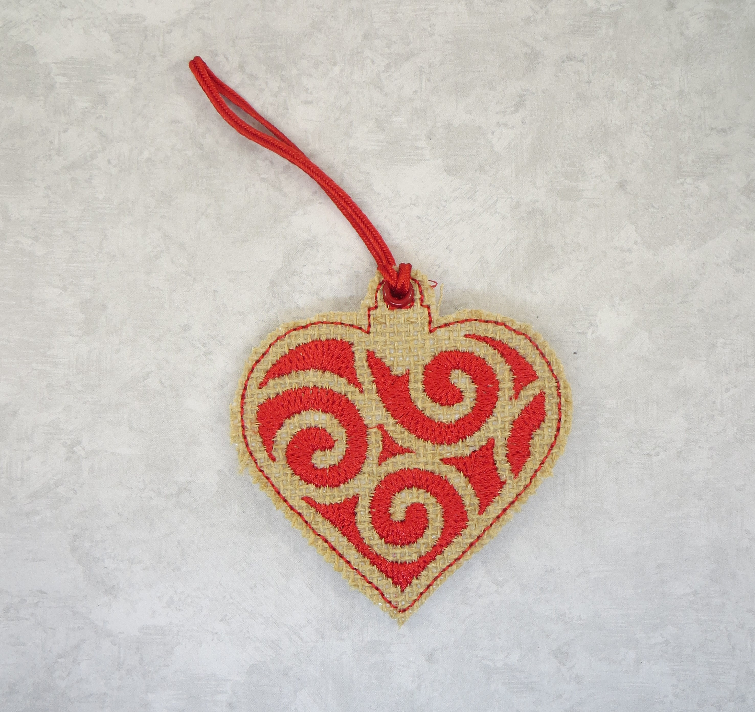 Fancy Scroll Heart Ornament Embroidery Design