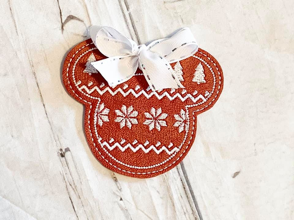 Mr Mouse Ugly Sweater Ornament Embroidery Design