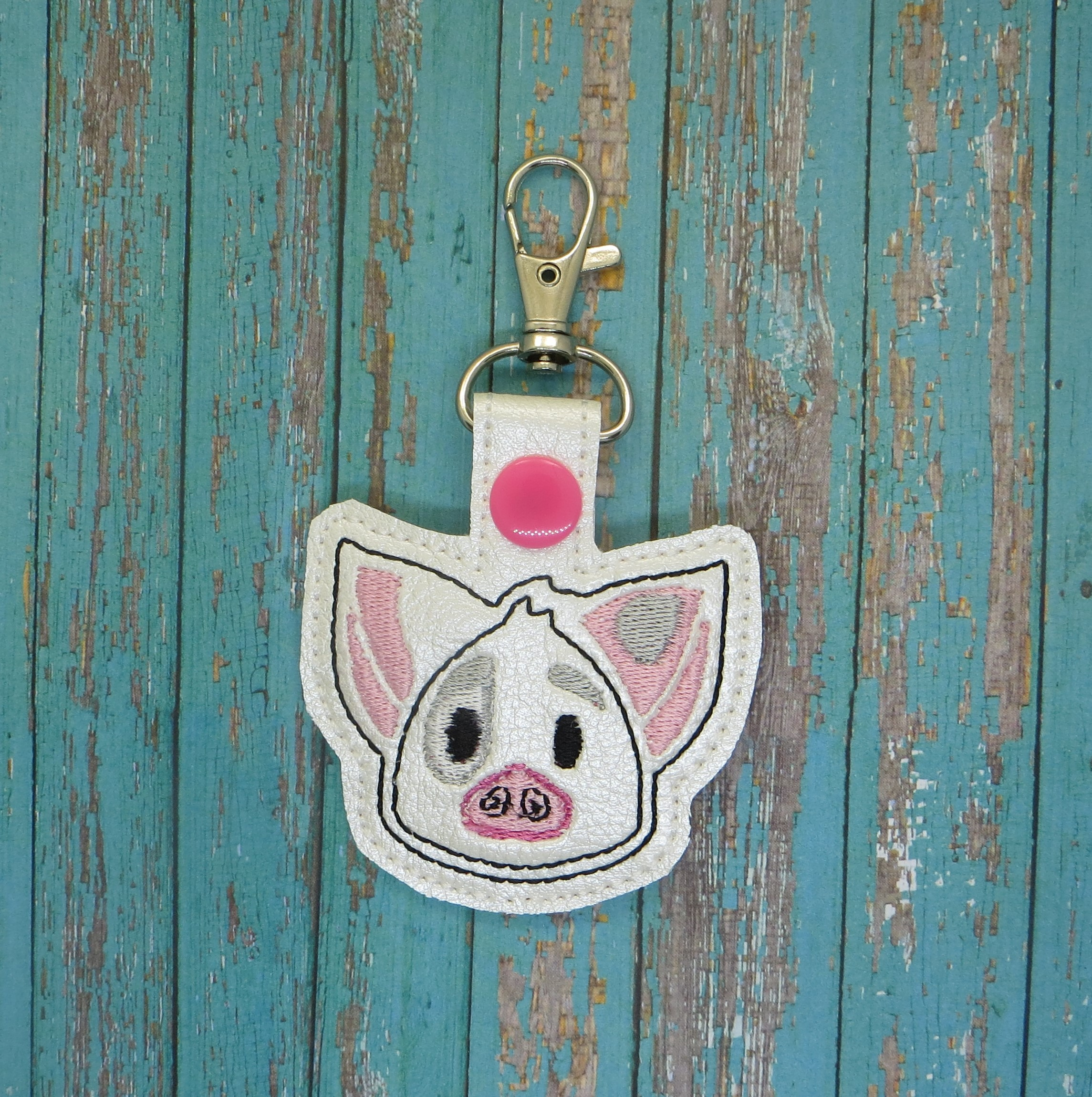 Hawaiin Pig Snaptab / Keyfob Embroidery Design