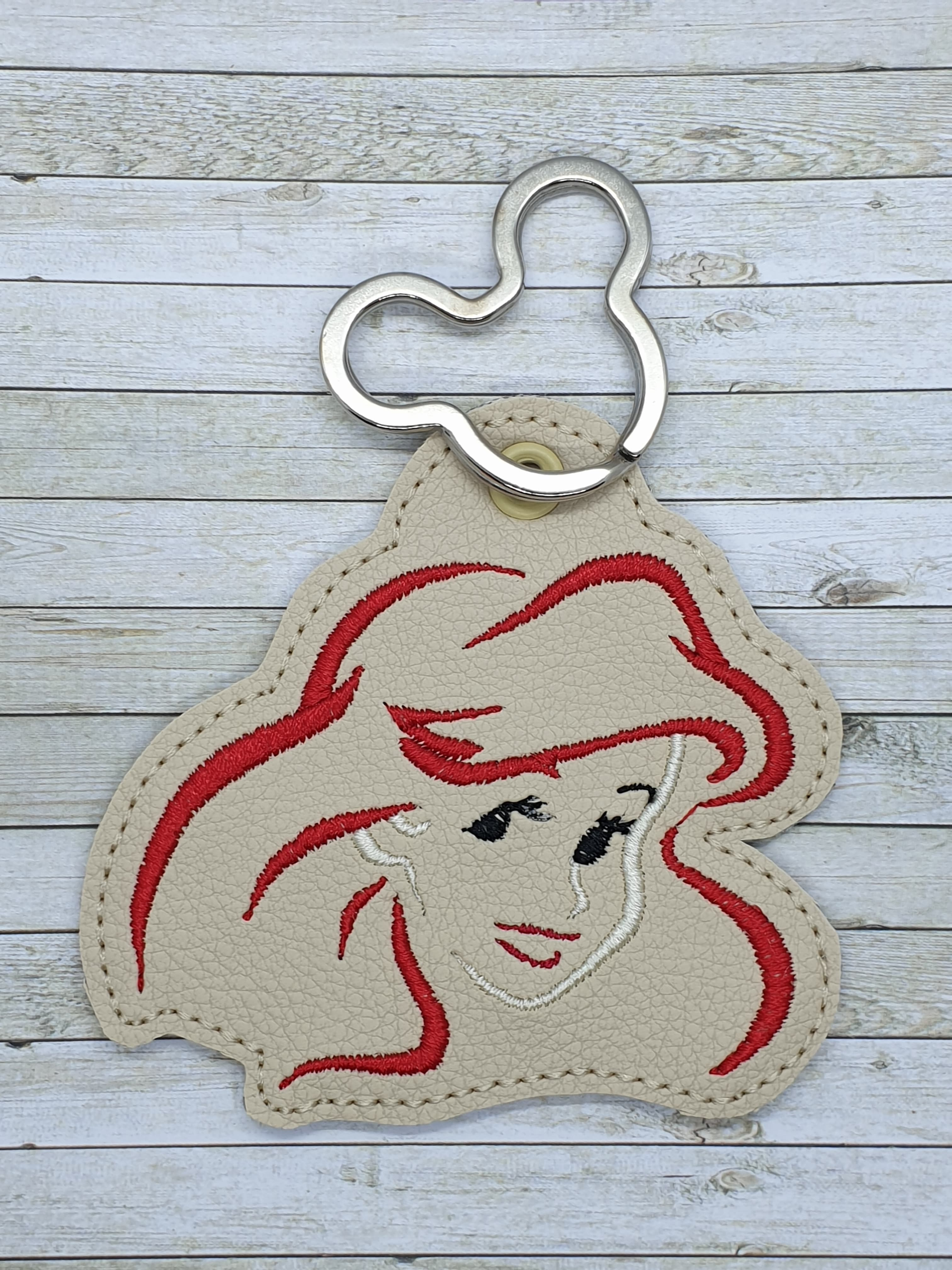 Aerial Face Snaptab / Keyfob Embroidery Design