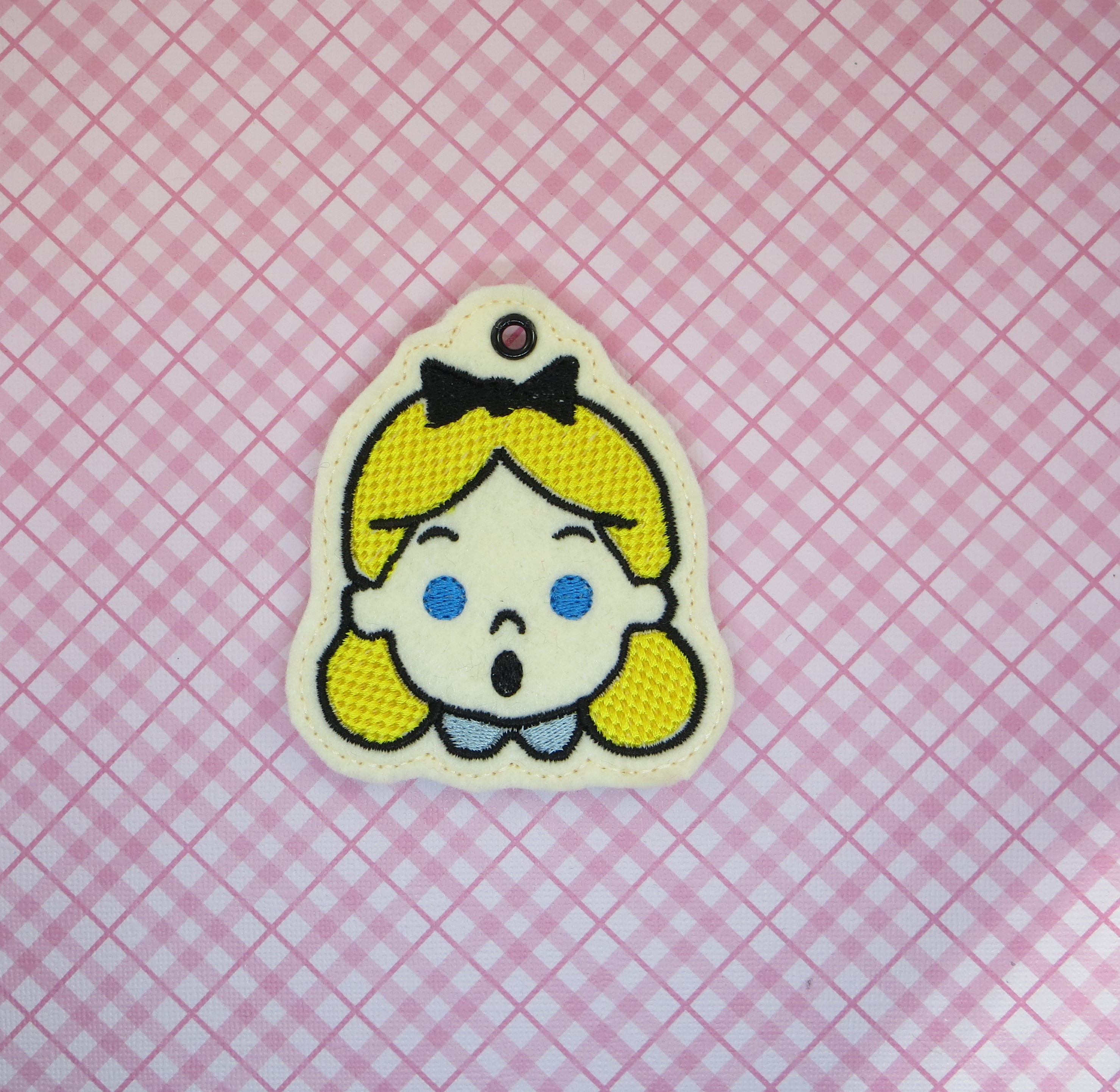 Alice Snaptab Keyfob Embroidery Design
