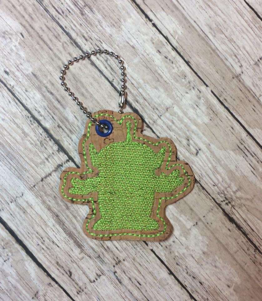 Martian Silhouette Snaptab / Keyfob Embroidery Design