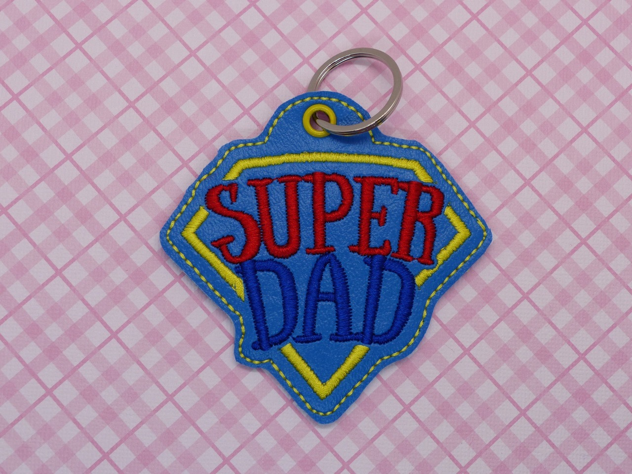 Super Dad Keyfob Embroidery Design