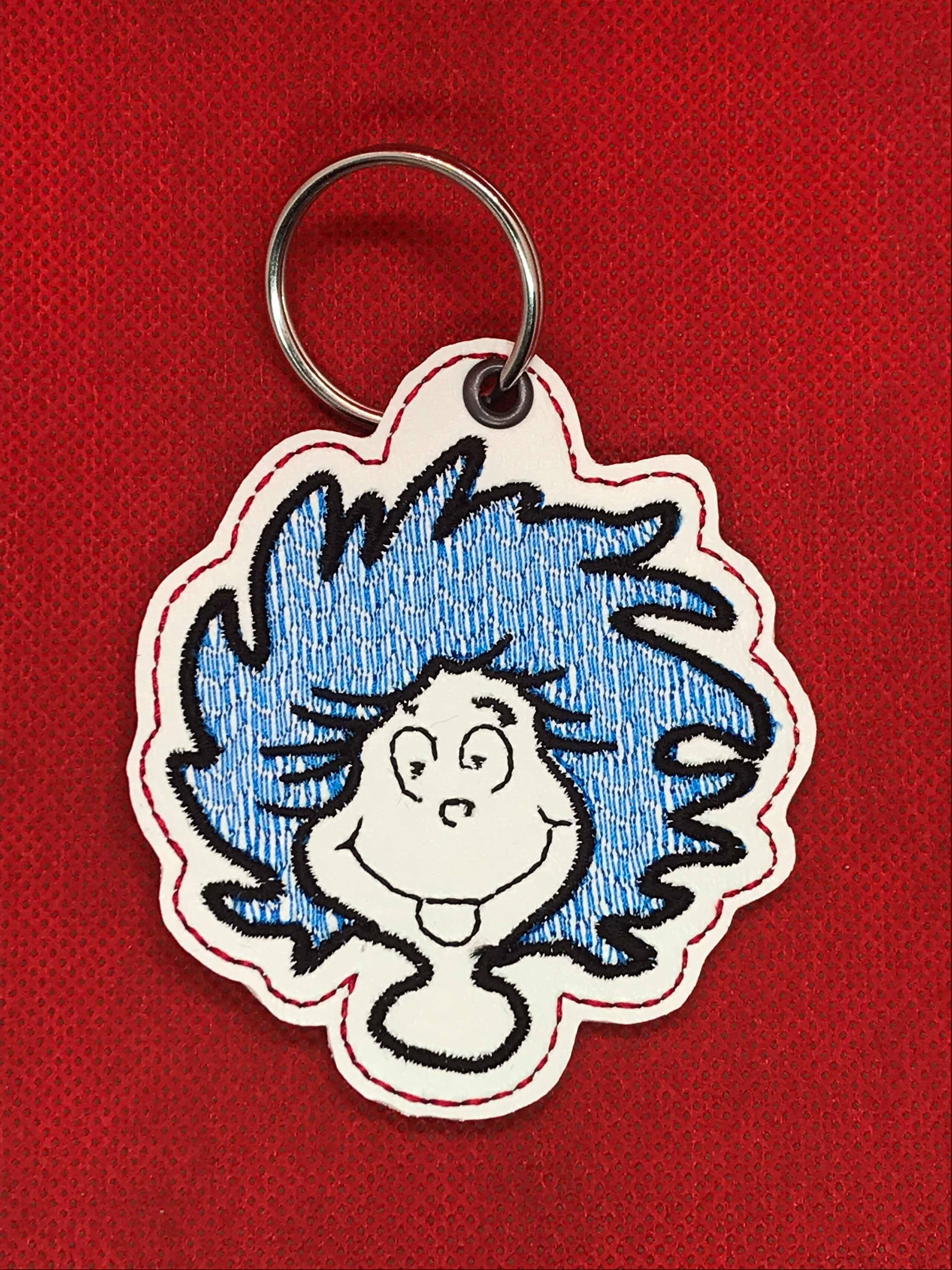 Thing Dr Suess Snaptab / Keyfob Embroidery Design