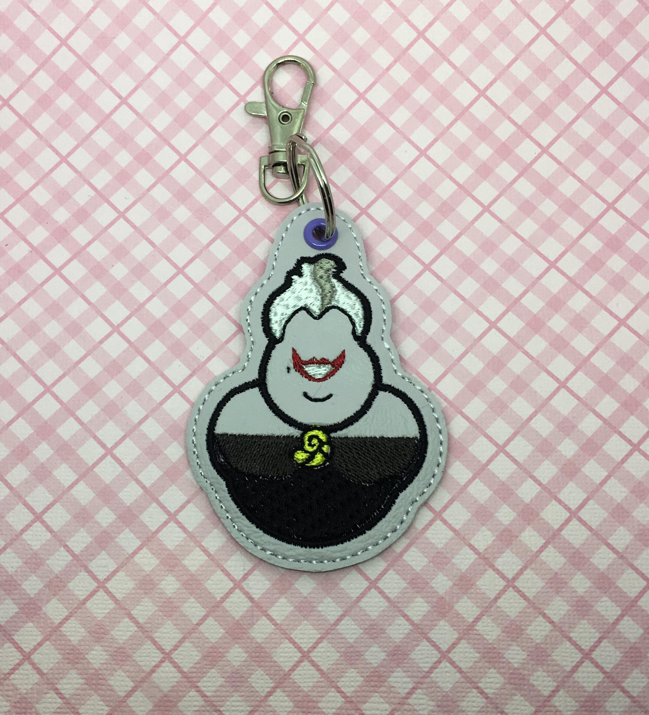 Sea Witch Villain Snaptab / Keyfob Embroidery Design
