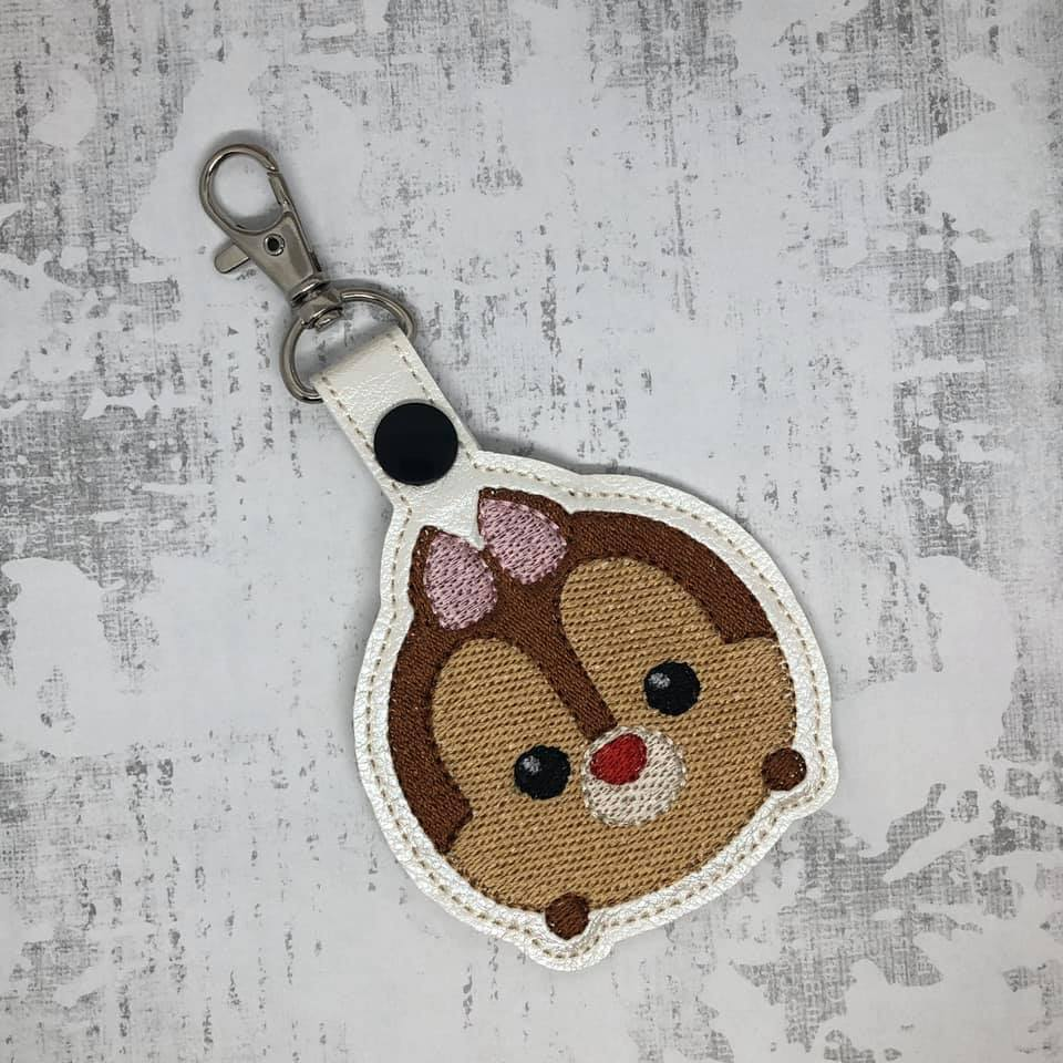 Dale Tsum Tsum Filled Snaptab / Keyfob Embroidery Design