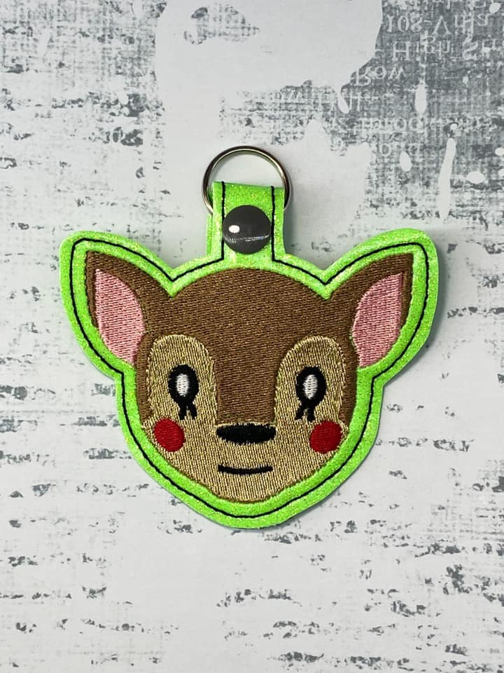 Fuana from Animal Crossing Snaptab / Keyfob Embroidery Design