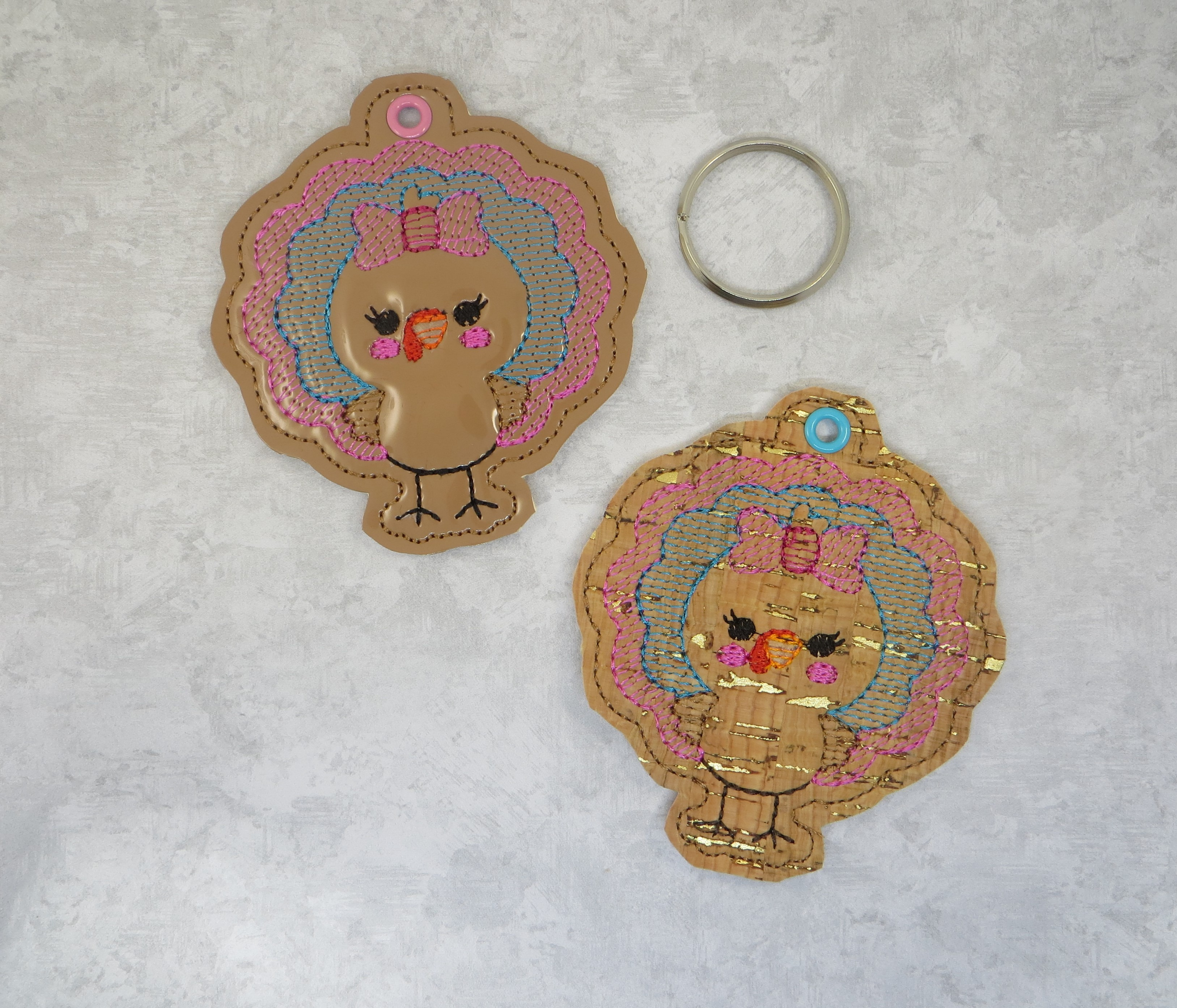 Turkey Girl Snaptab / Keyfob Embroidery Design