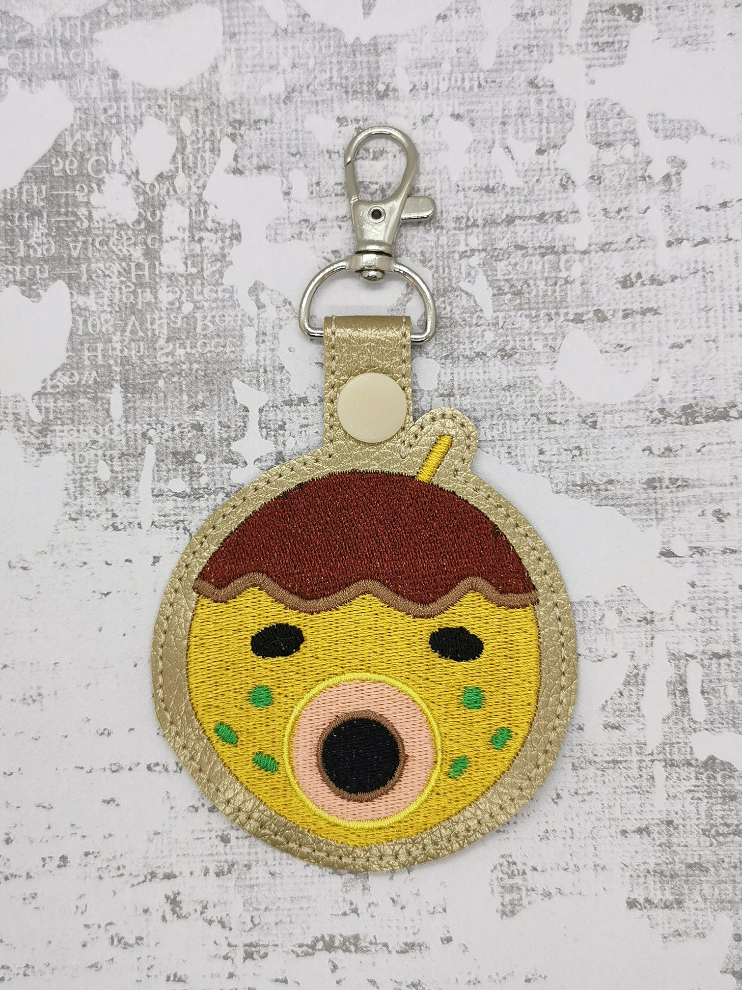 Zucker from Animal Crossing Snaptab / Keyfob Embroidery Design