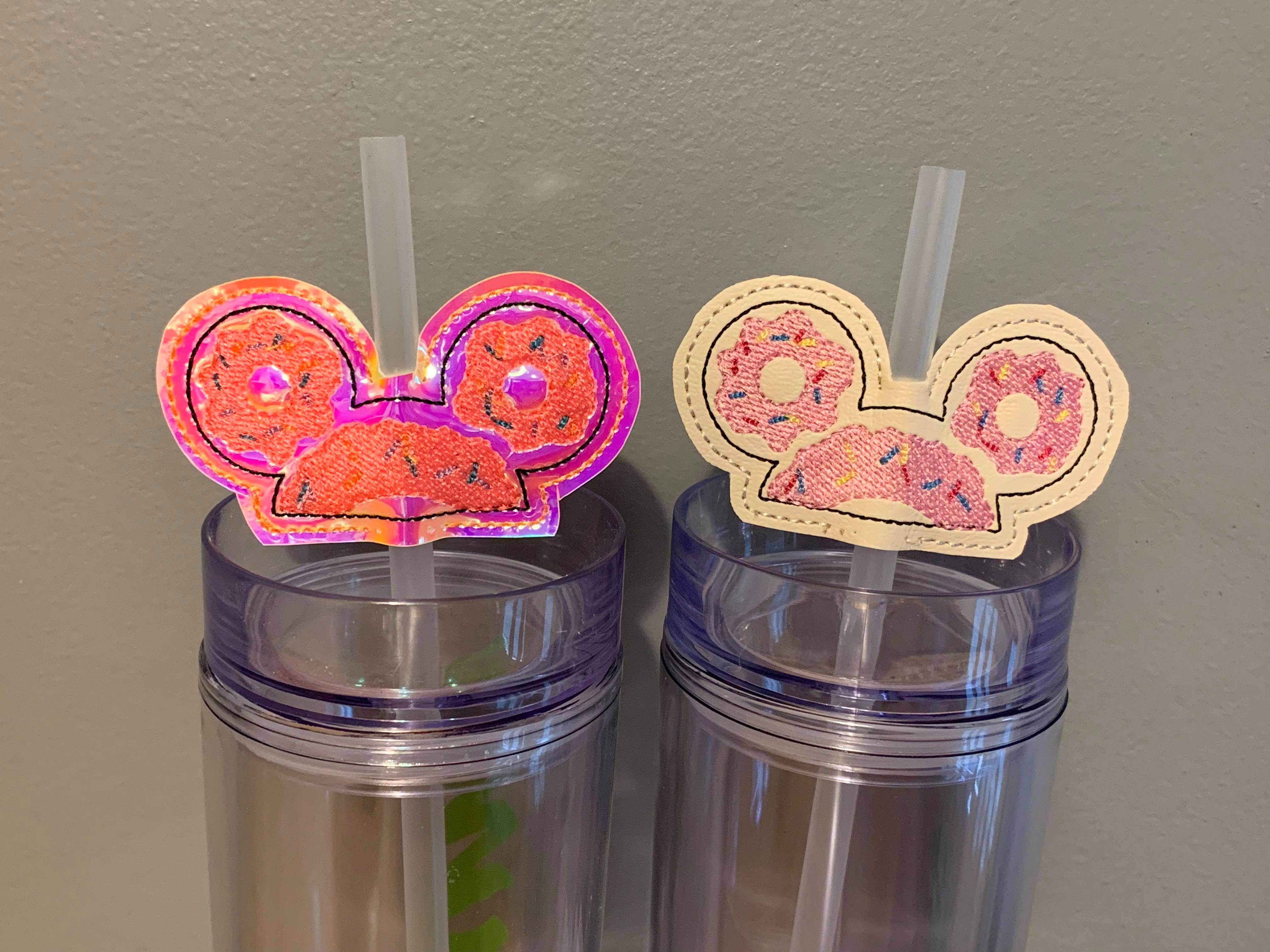 Mr Mouse Donut Ears Straw Buddies Embroidery Design