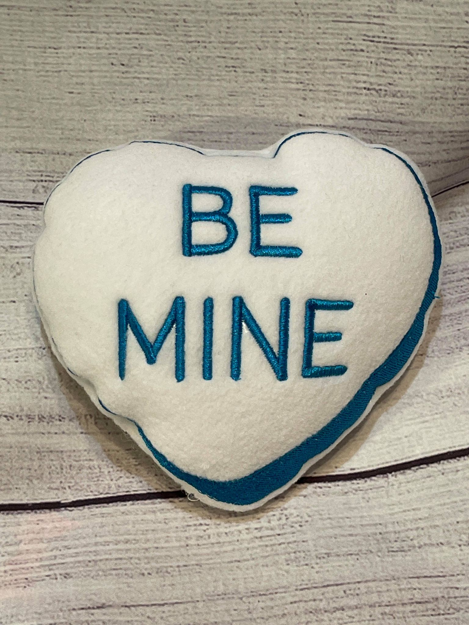 Be Mine Heart Stuffie Embroidery Design (8x12)