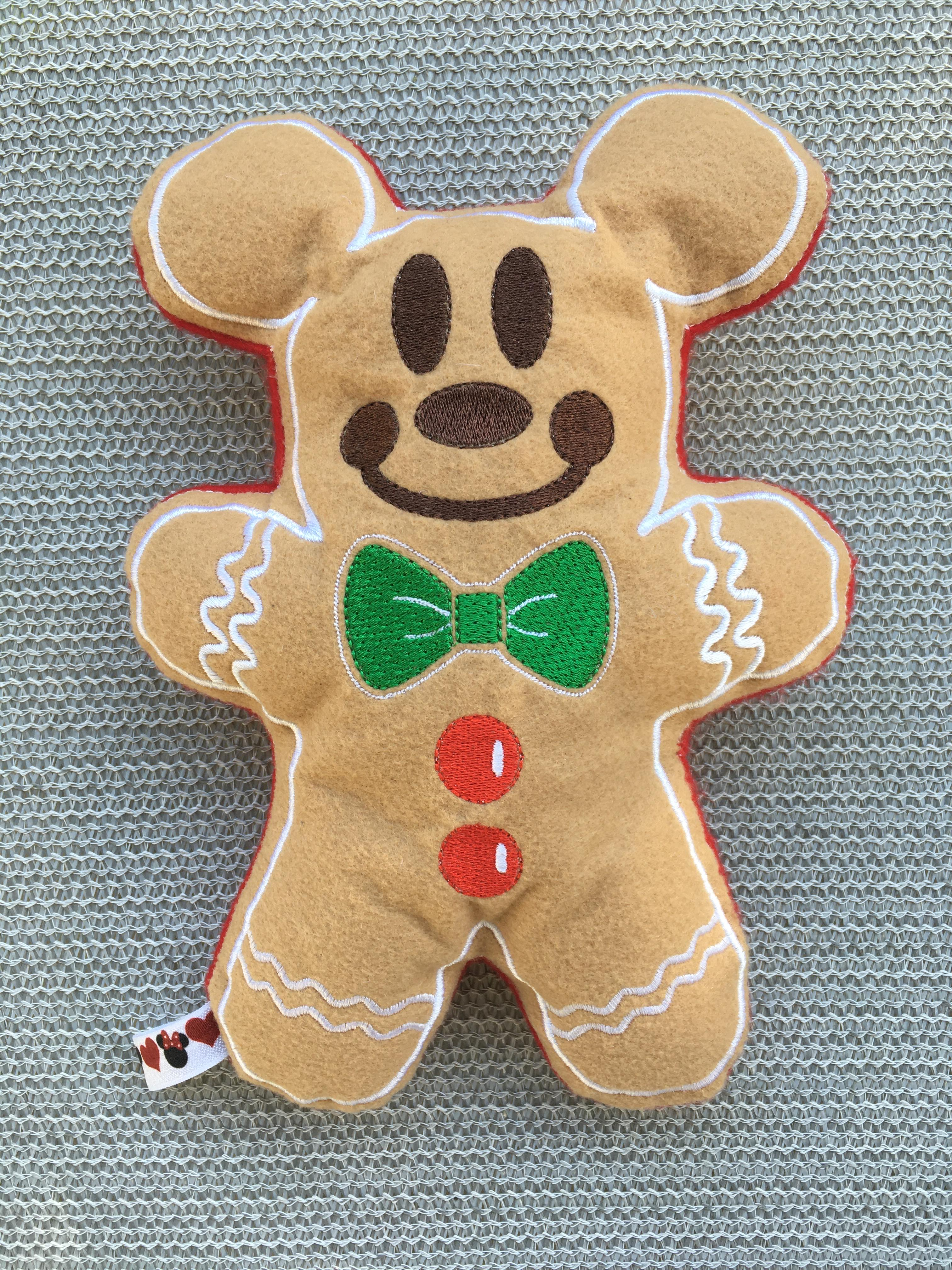 Mr Mouse Gingerbread Stuffie Embroidery Design 5x7