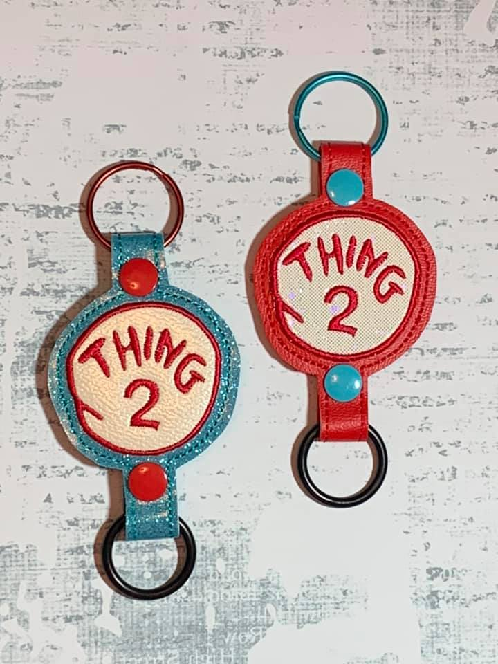 Thing 2 Water Bottle Holder Embroidery Design