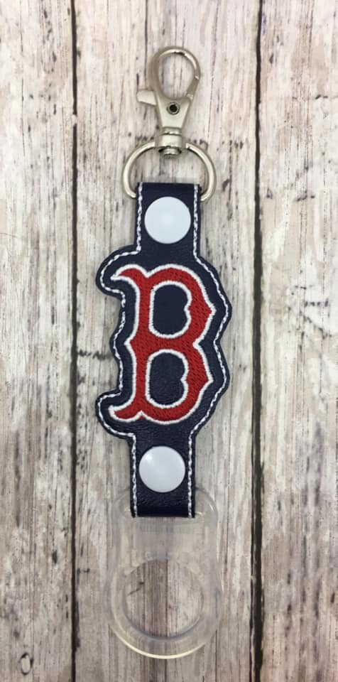 Boston Red Sox Logo Water Bottle Holder Embroidery Design
