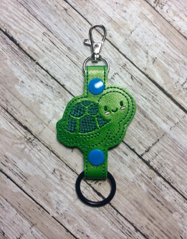 Boy Turtle Water Bottle Holder Embroidery Design