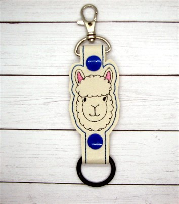 Llama Face Water Bottle Holder Embroidery Design