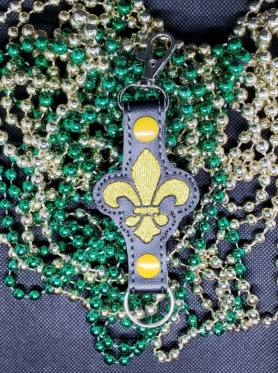 Fleur De Lis Water Bottle Holder Embroidery Design