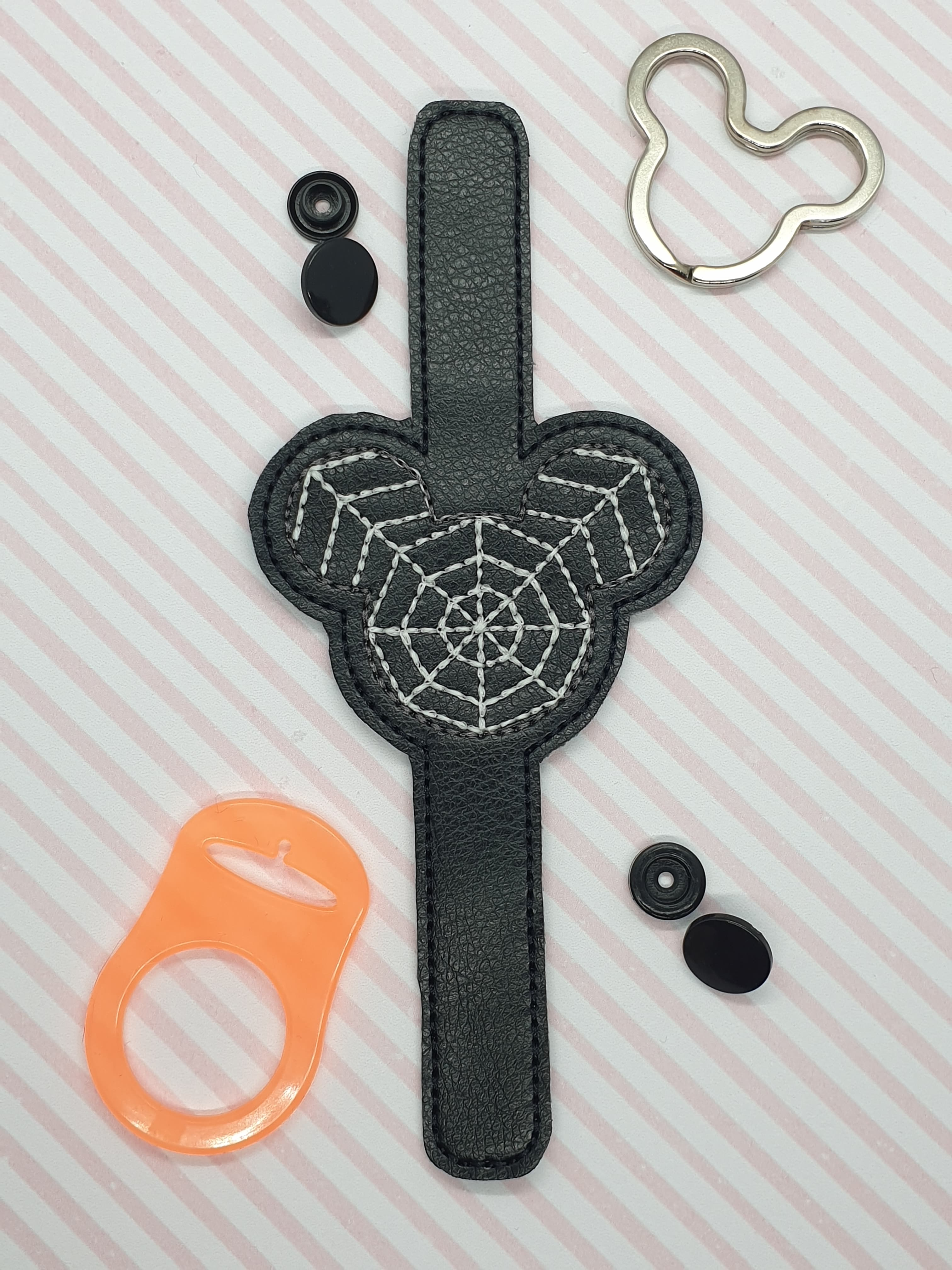 Mickey Spider Web Water Bottle Holder Embroidery Design