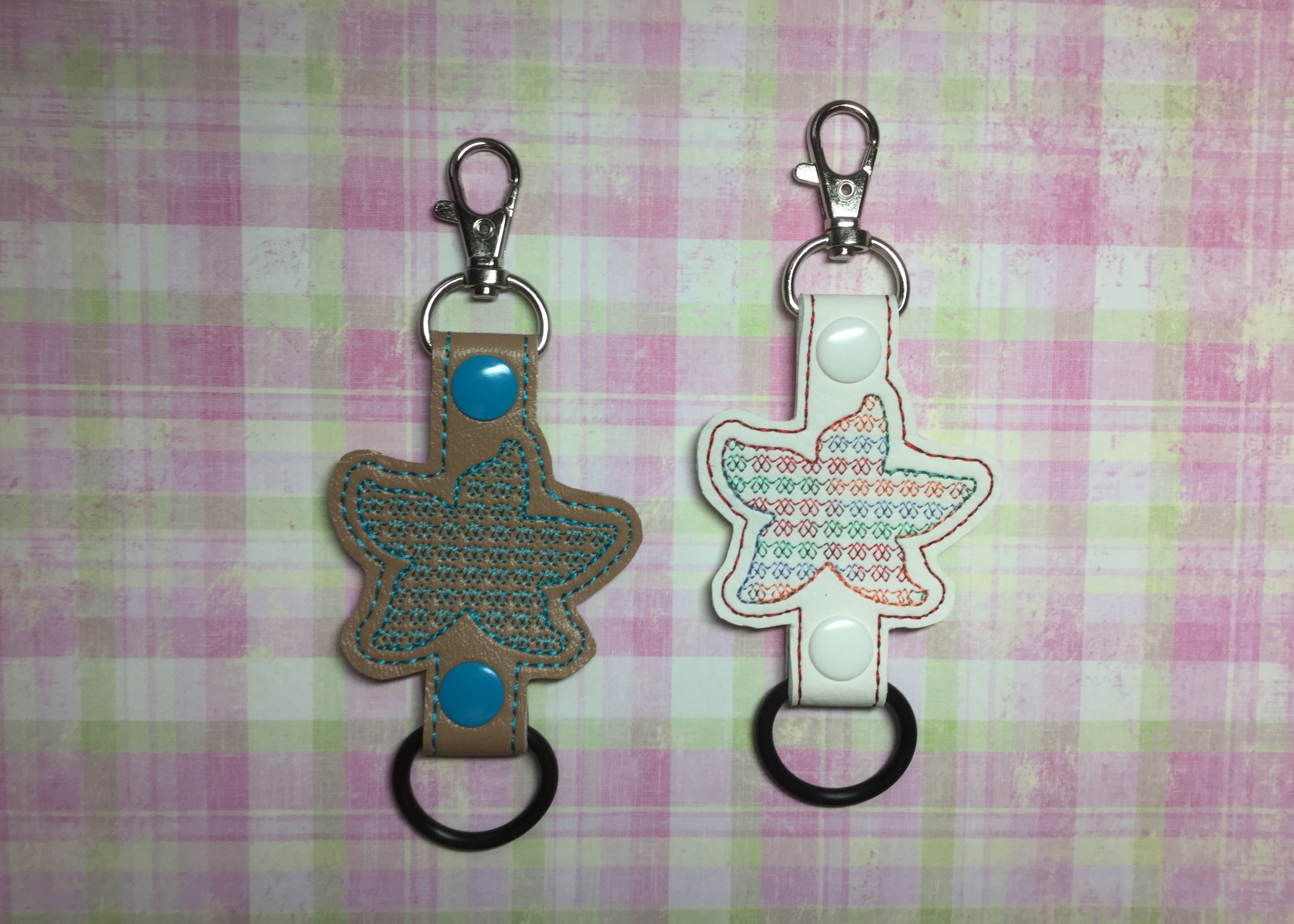 Starfish Motif Water Bottle Holder Embroidery Design