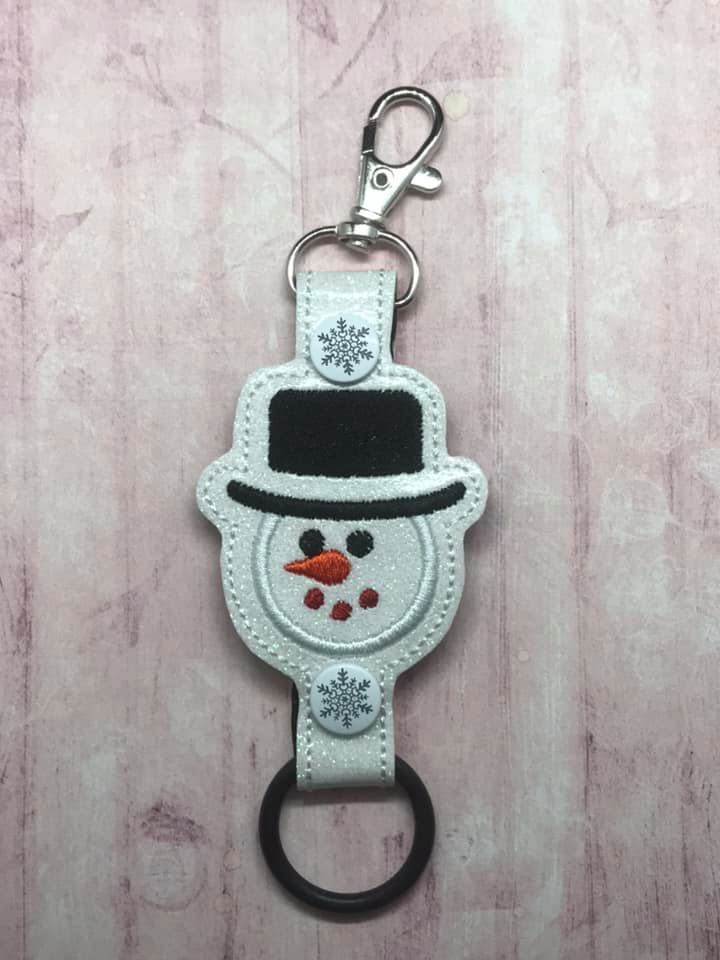 Snowman Face Water Bottle Holder Embroidery Design
