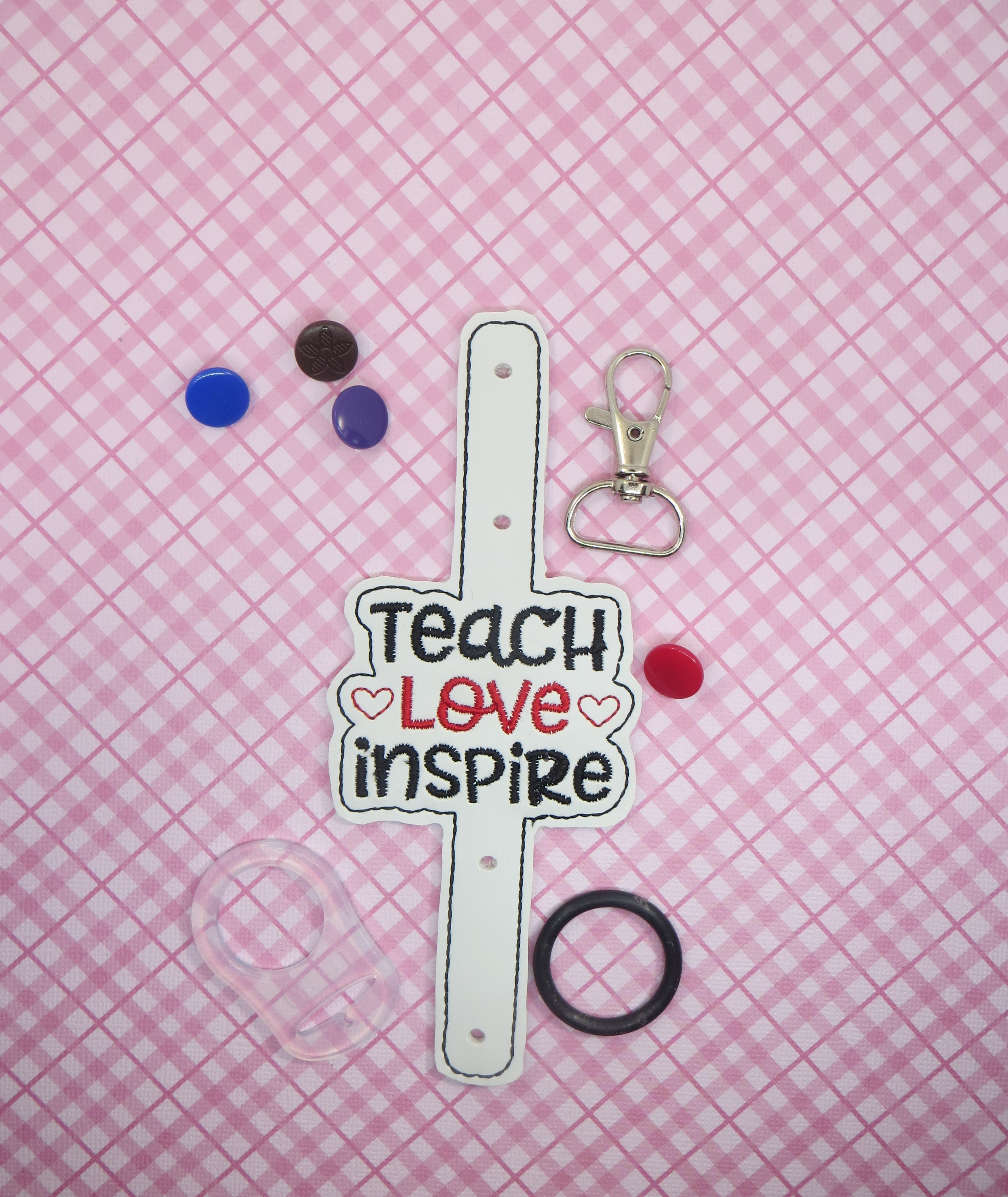 Teach Love Inspire Water Bottle Holder Embroidery Design