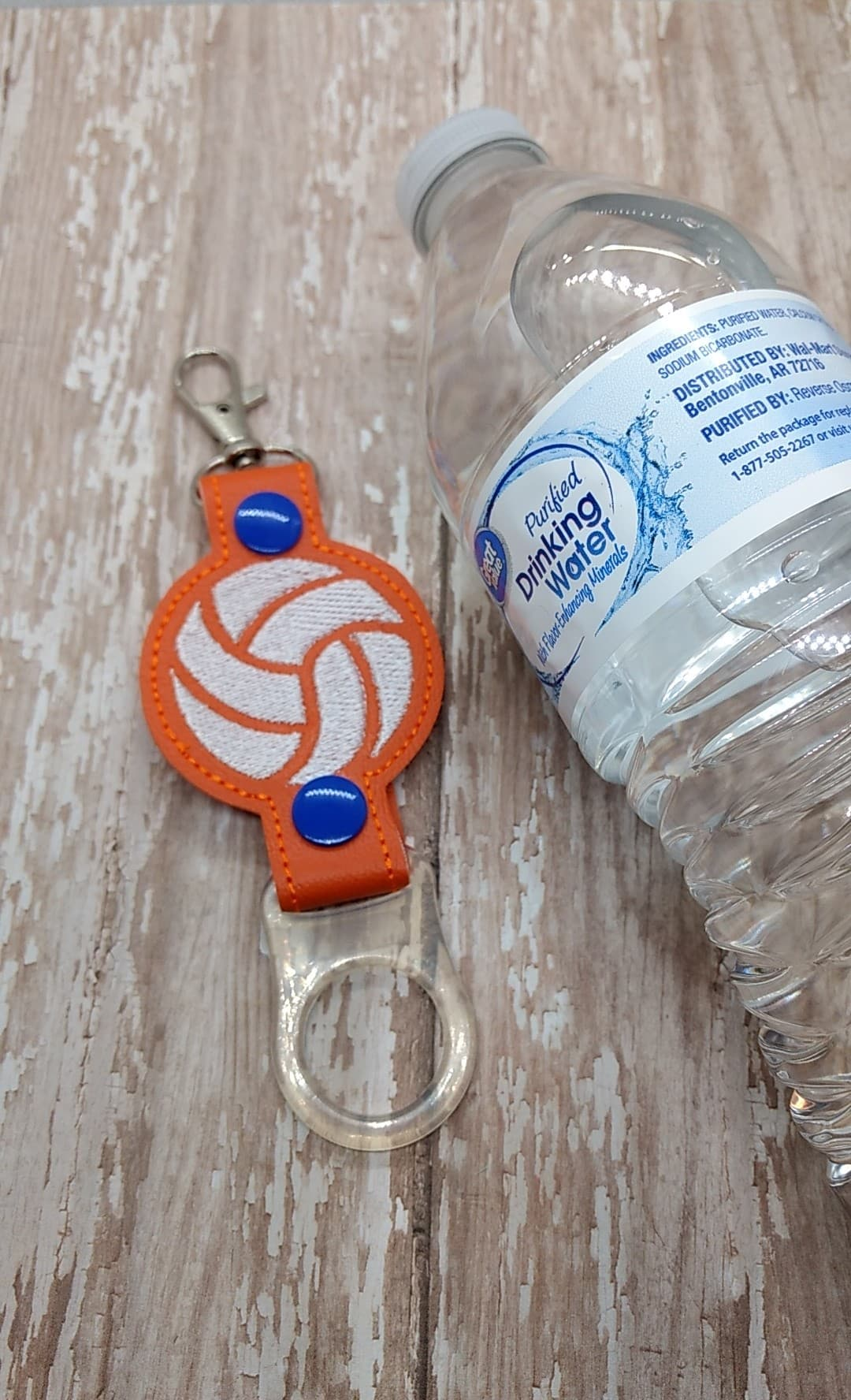 Volleyball Water Bottle Holder Embroidery Design