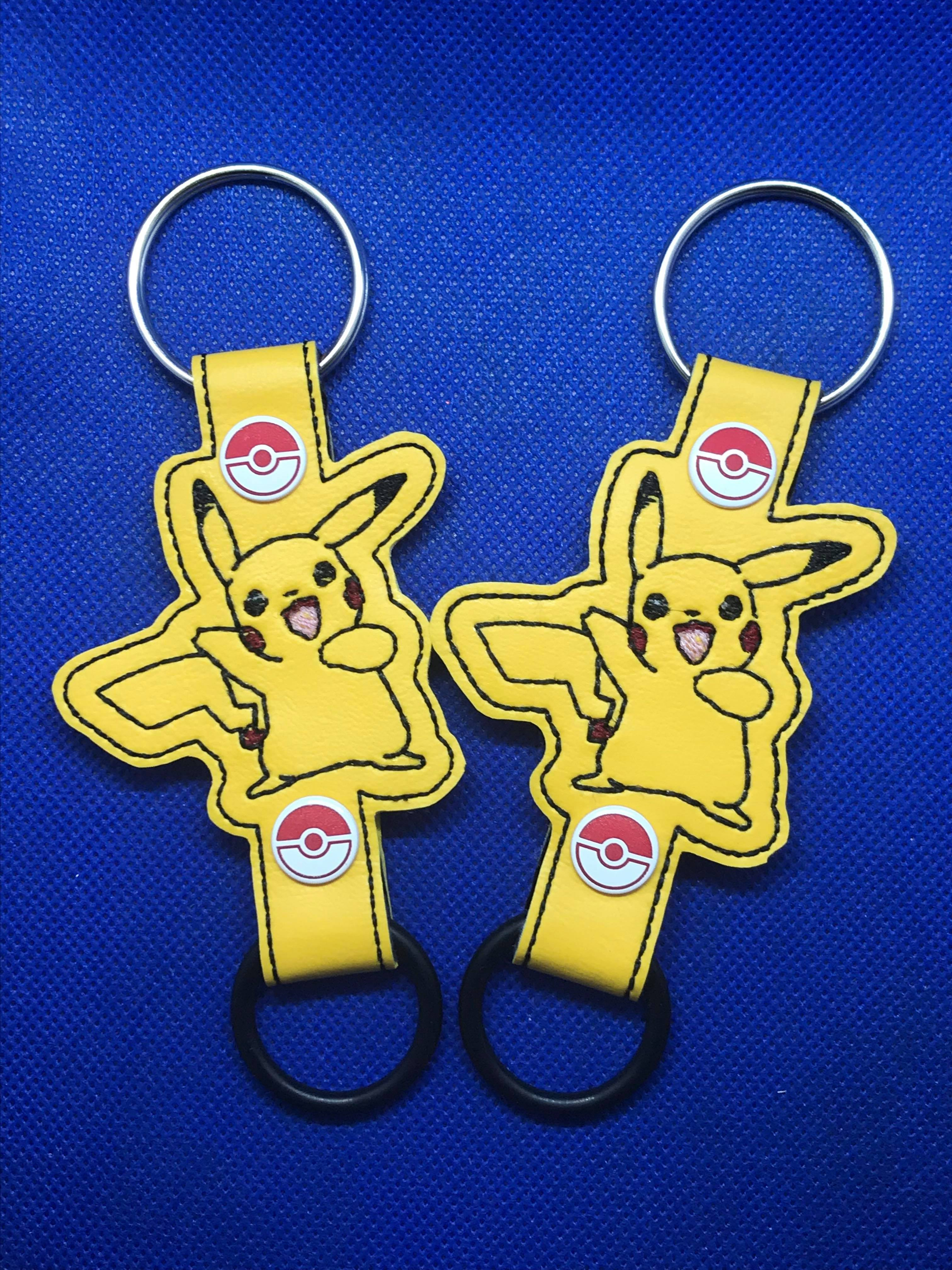 Waving Pikachu Water Bottle Holder Embroidery Design