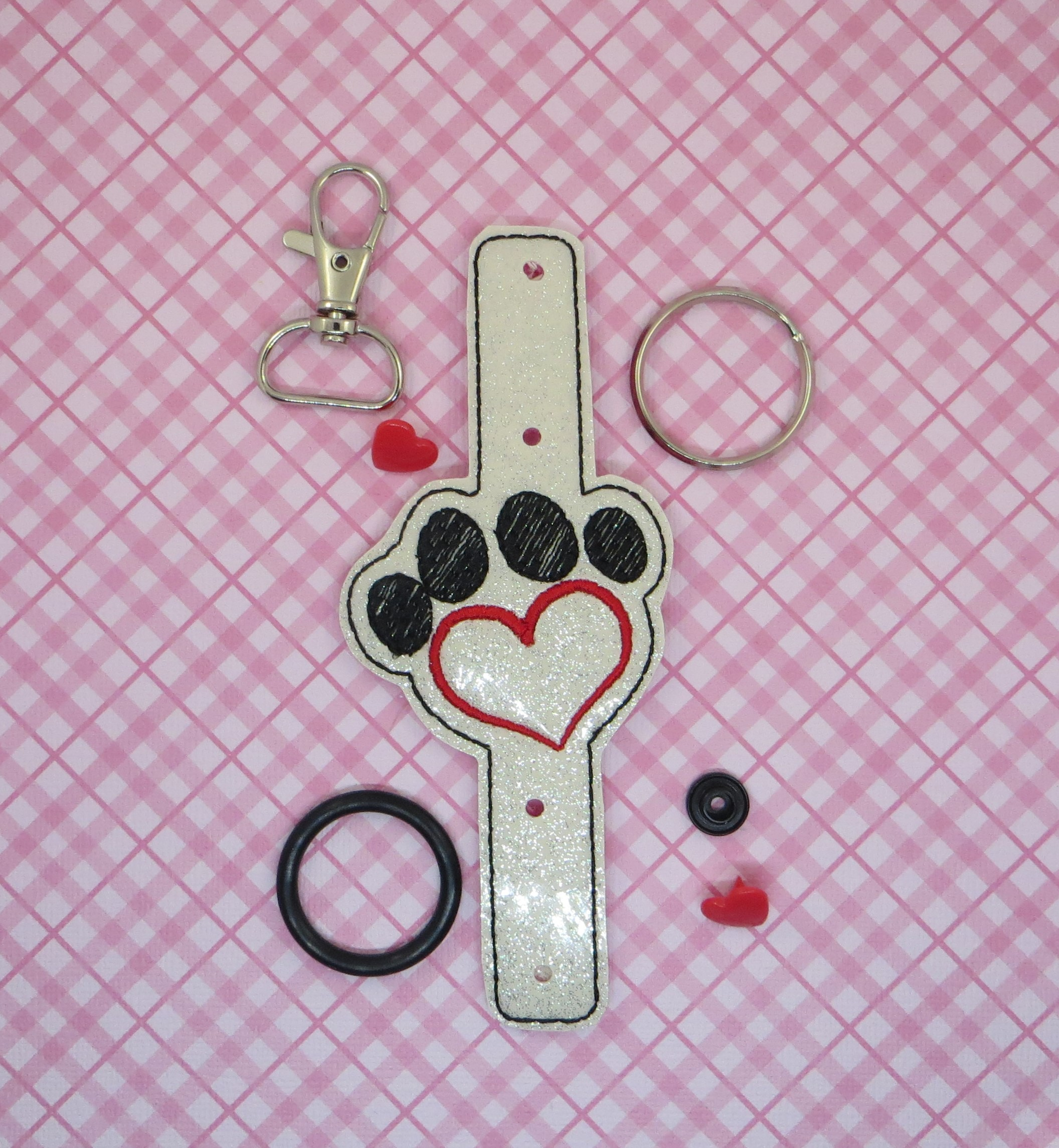 Pet Love Water Bottle Holder Embroidery Design
