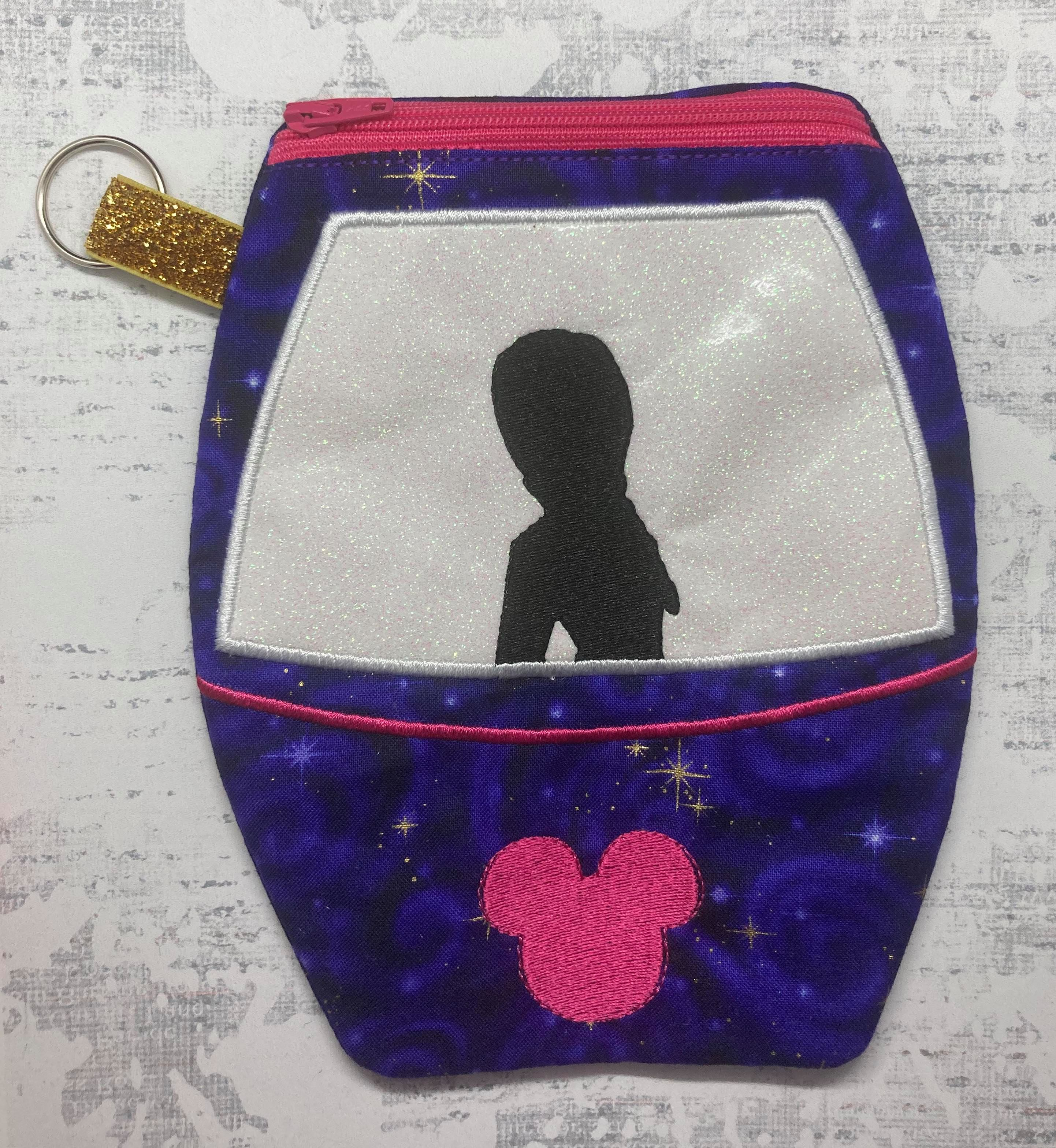 Ice Princess Skyliner Zipper Bag Embroidery Design (5x7 & 6x10, lined)