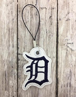 Detroit Tiger Zipper Pull Embroidery Design