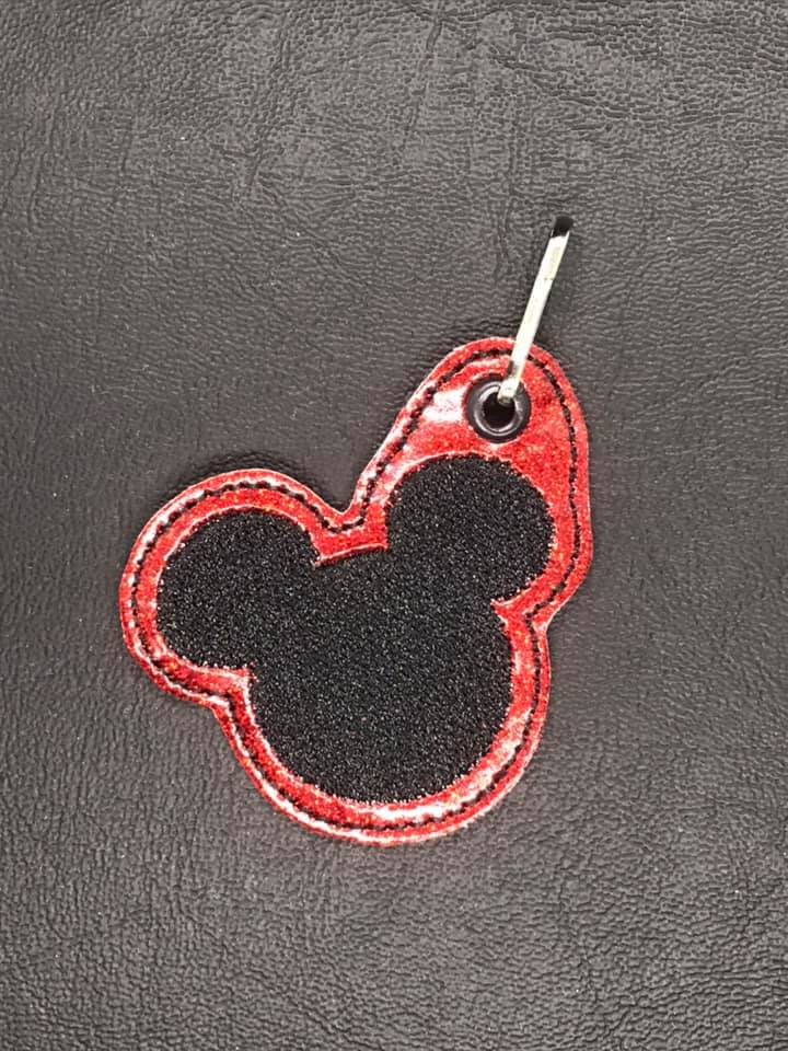 Mr Mouse Head Zipper Pull Embroidery Design