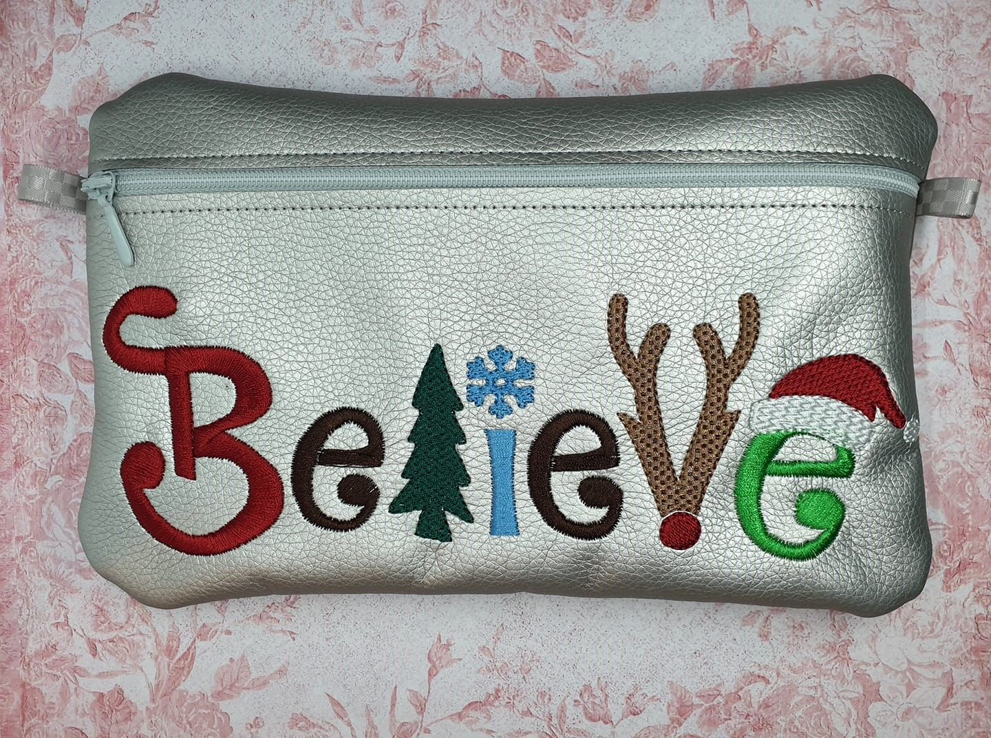 Believe Character Zipper Bag Embroidery Design (2 sizes, unlined)