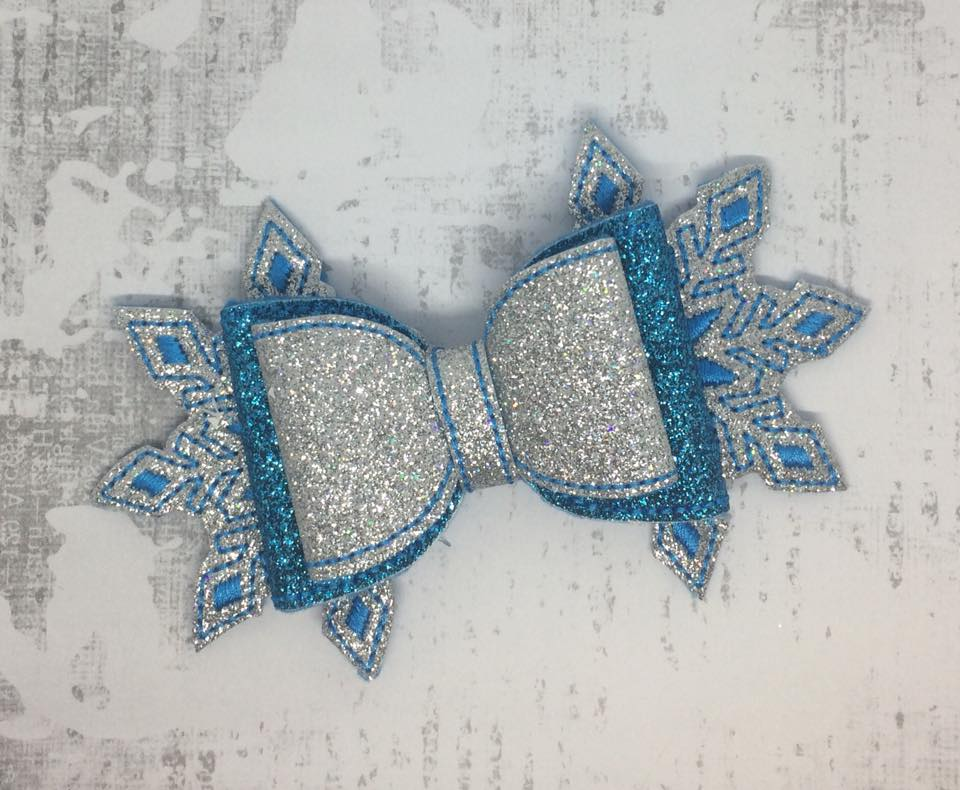 Snowflake Bow Embroidery Design