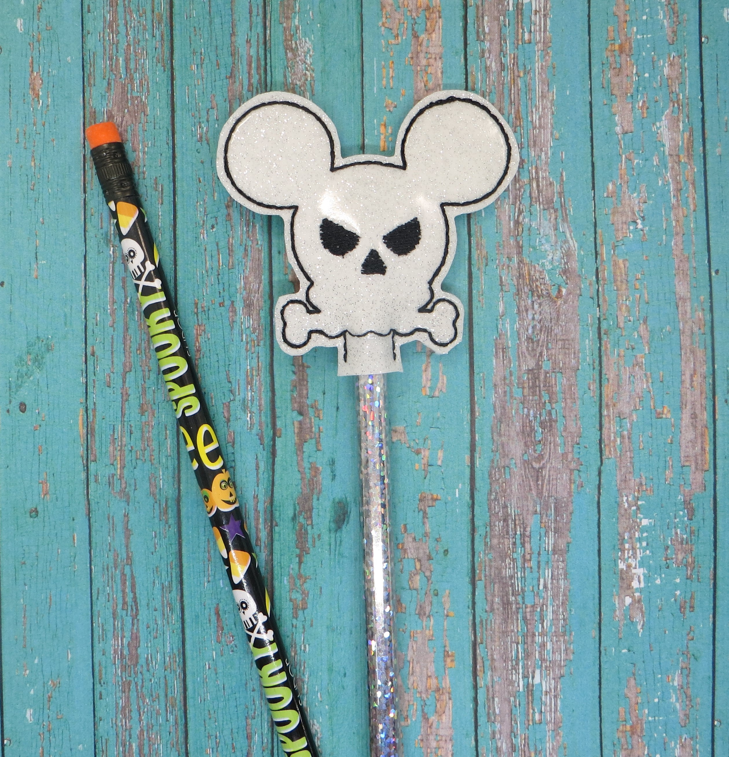 Halloween Mouse Pencil Topper Embroidery Design
