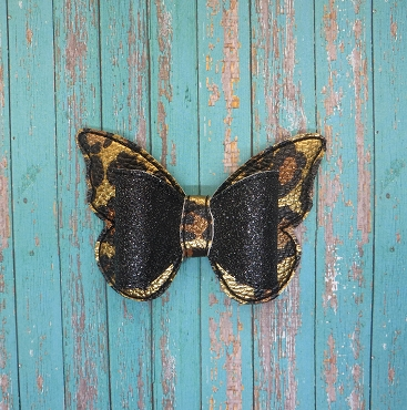 Butterfly Hair Bow - 4 inches - ITH Embroidery Design