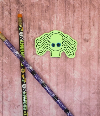 Simple Spider Pencil Topper Embroidery Design