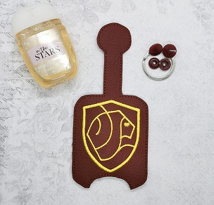 Gryffindor Applique Hand Sanitizer Embroidery Design